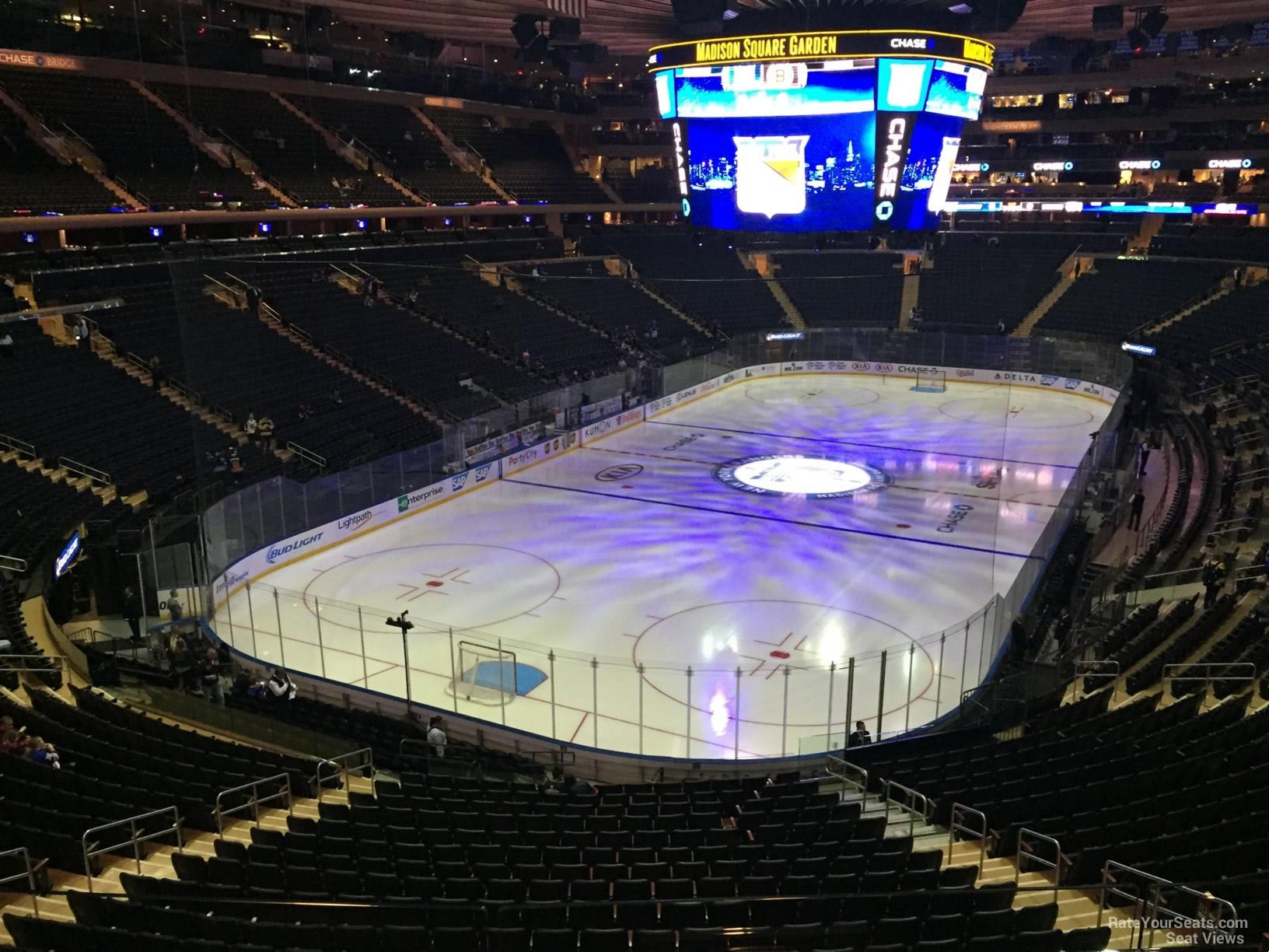 Madison Square Garden Section 219 New York Rangers