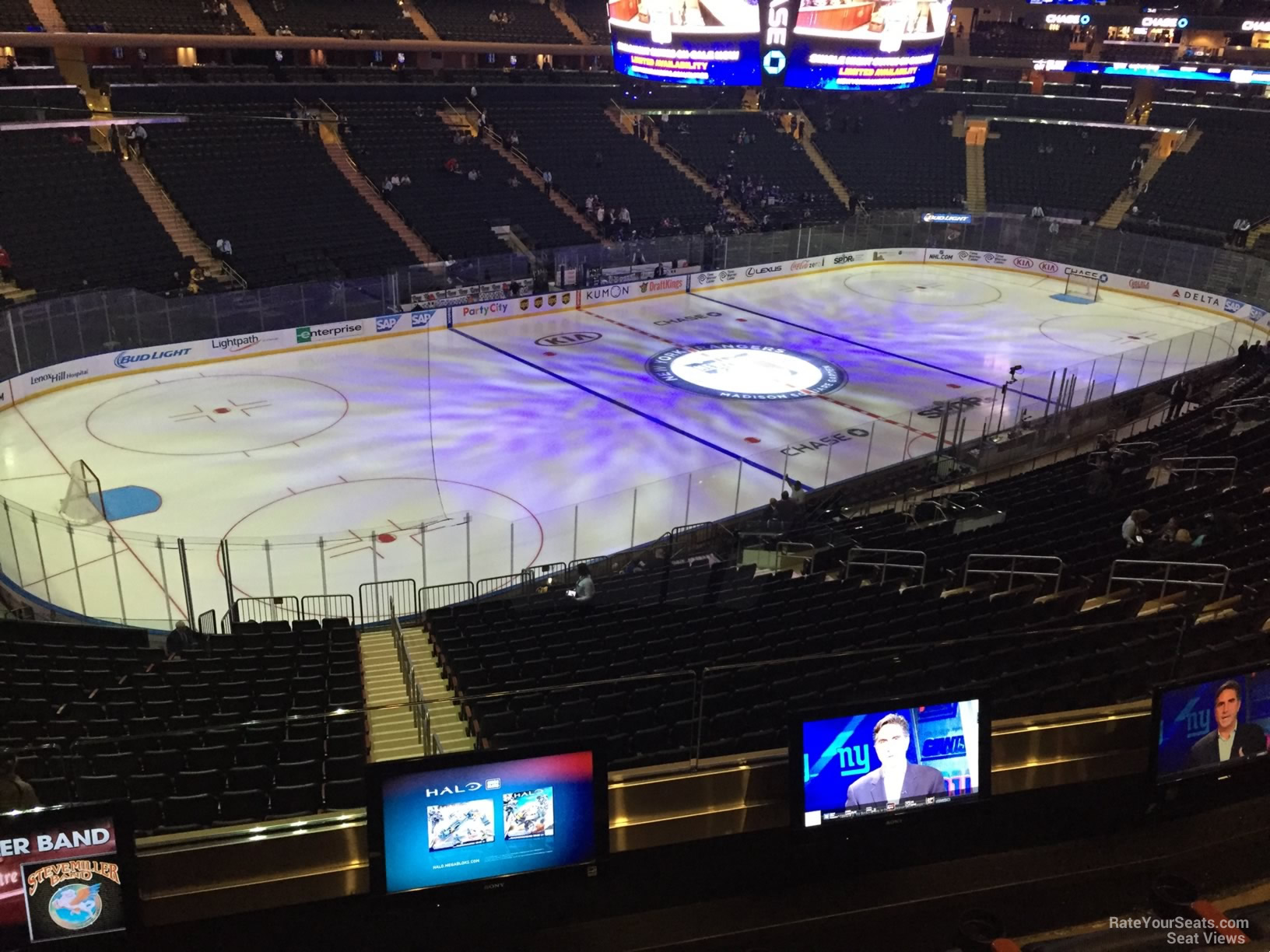 New York Rangers Seat View For Madison Square Garden Section 221, ...