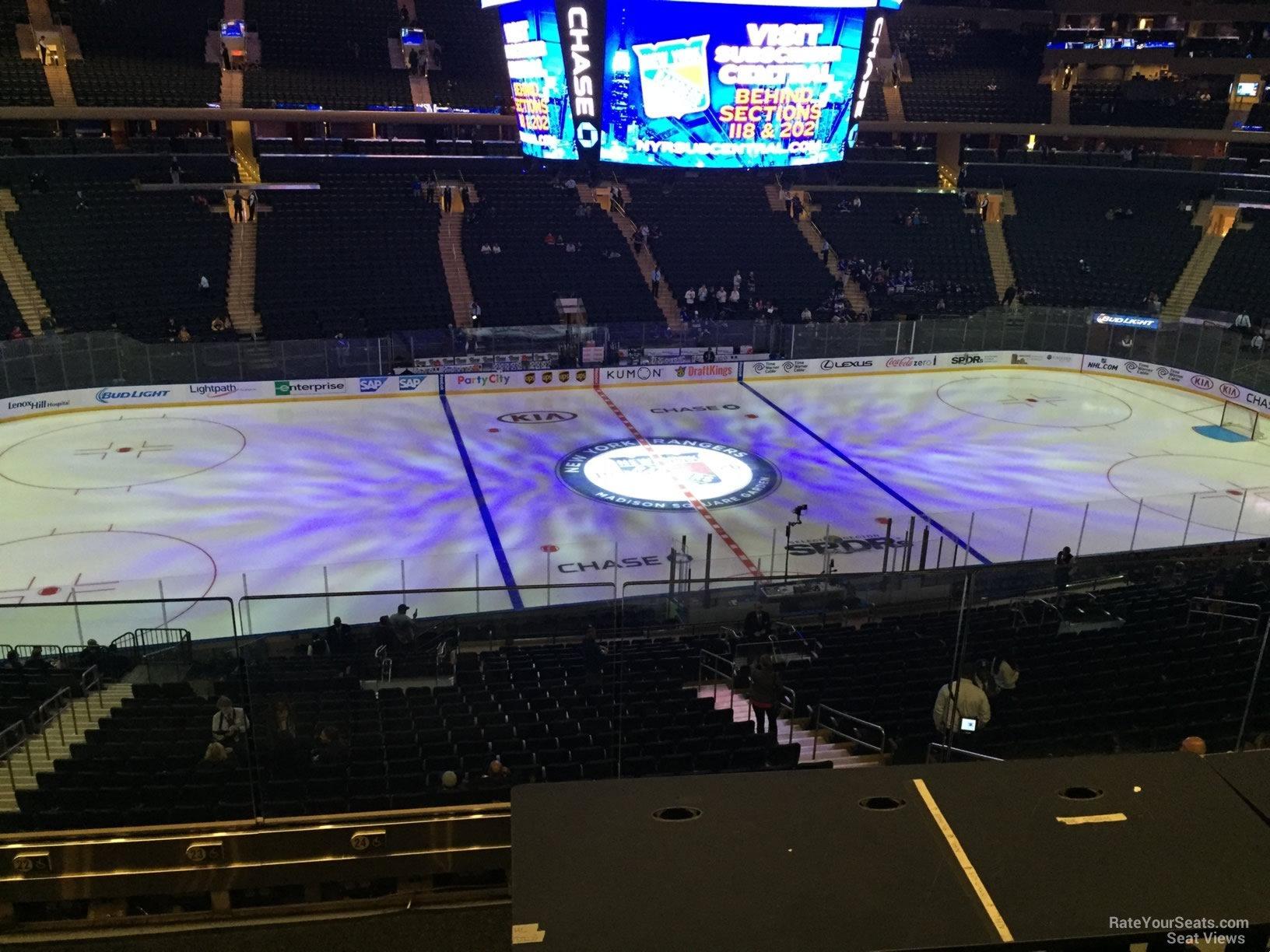Madison Square Garden Section 223 New York Rangers