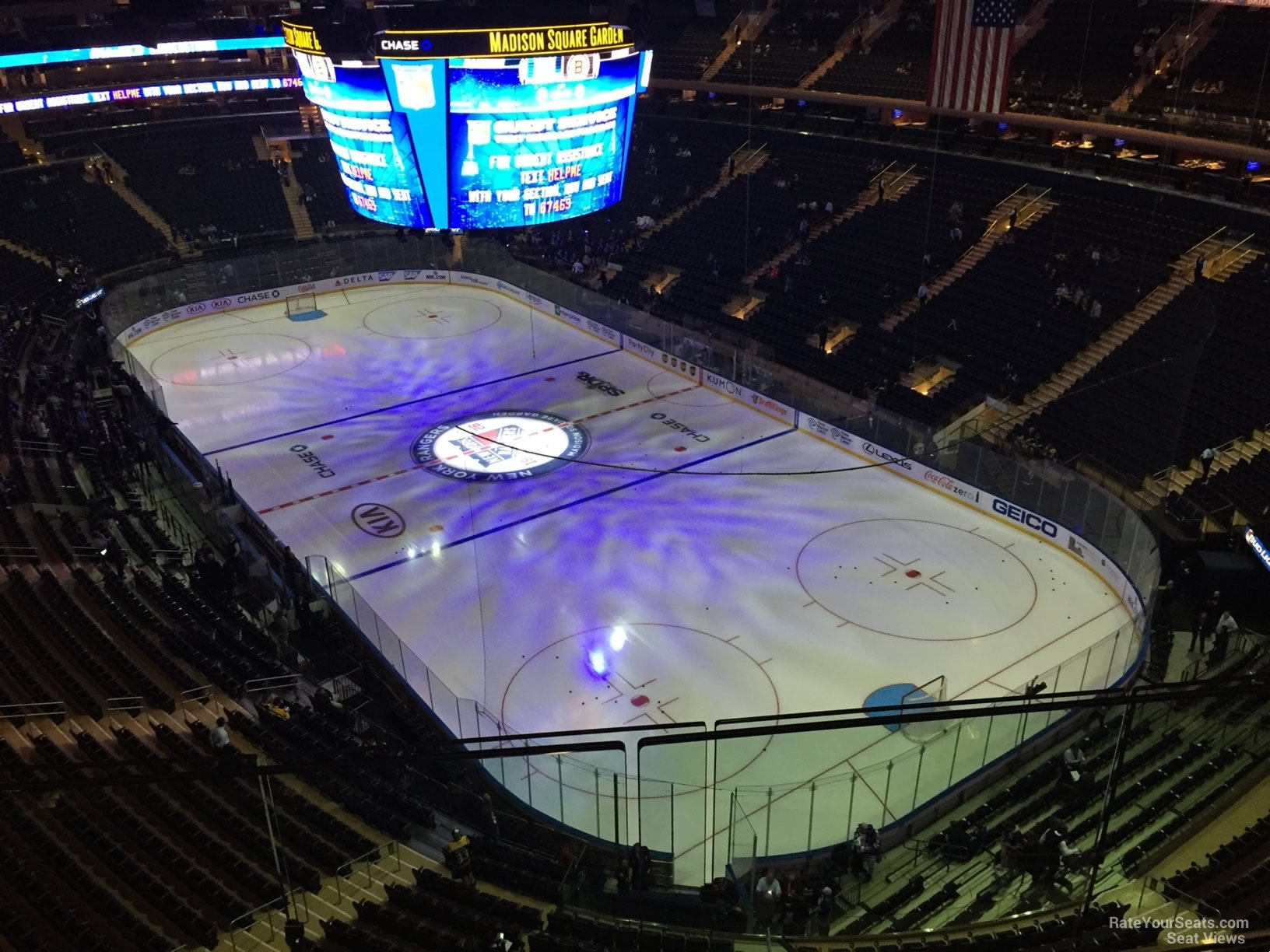 Madison Square Garden Section 318 New York Rangers
