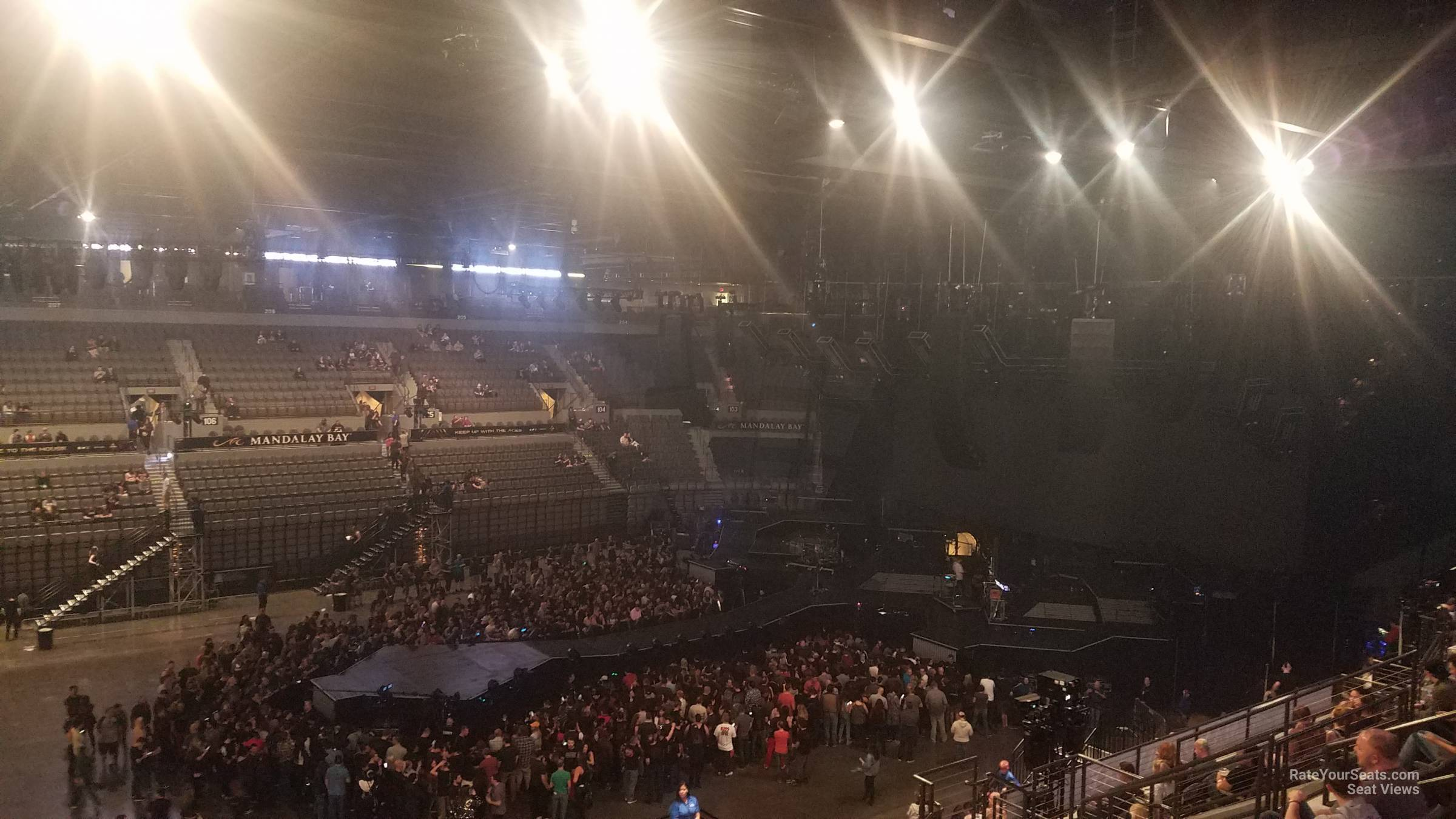 Concert Seat View for Mandalay Bay Events Center Section 319