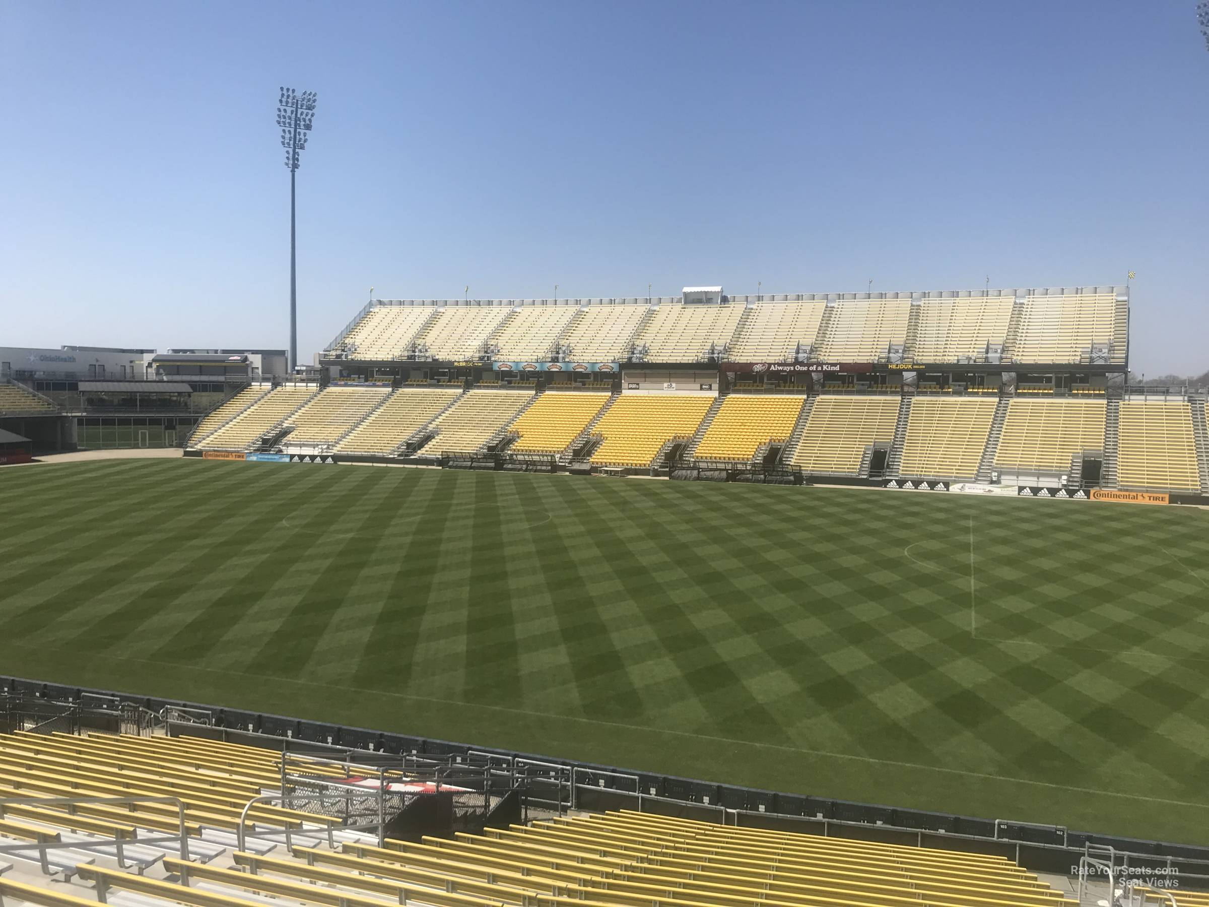 Seat View for Mapfre Stadium Section 103, Row 24