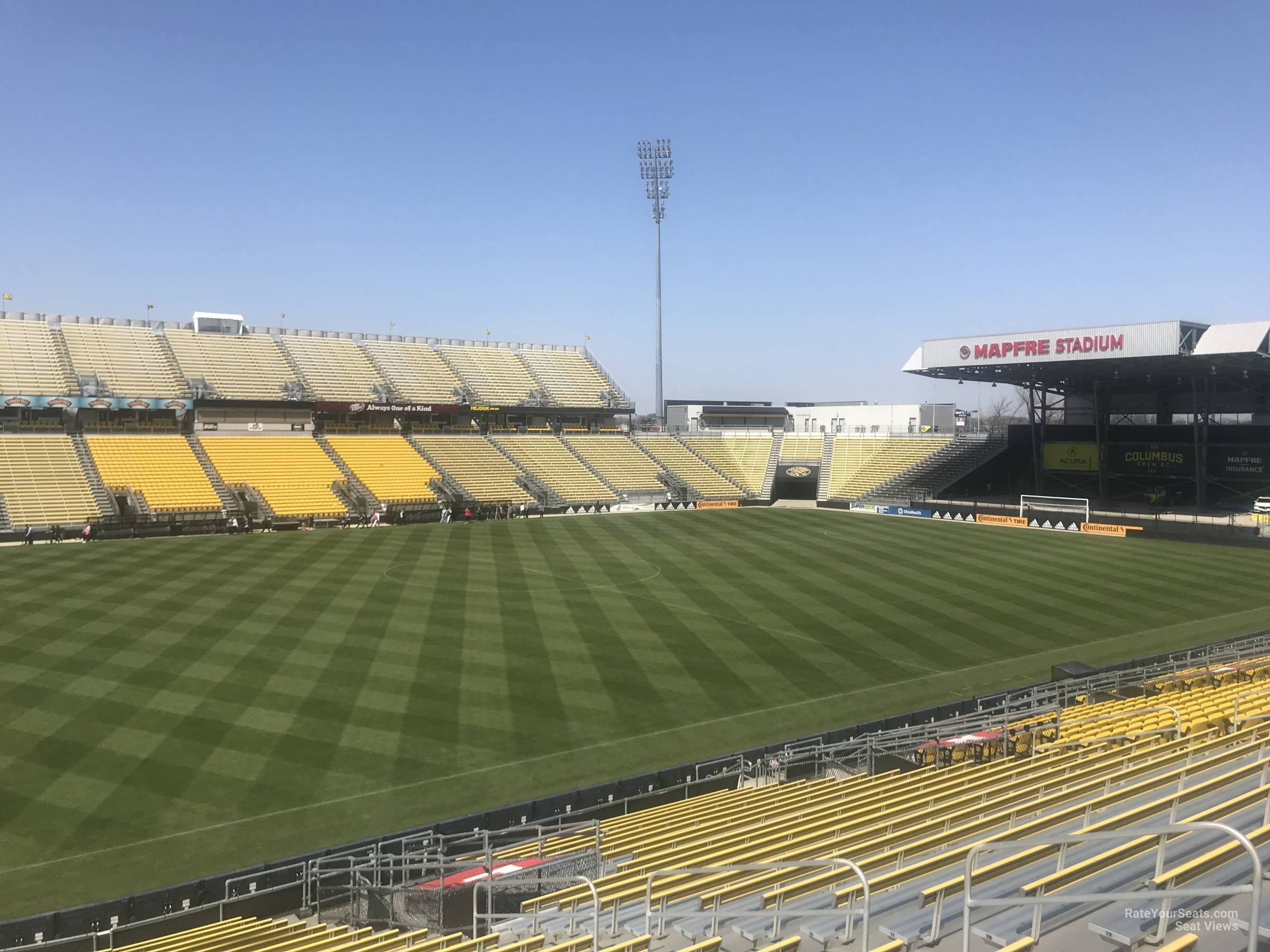 Seat View for Mapfre Stadium Section 109, Row 24