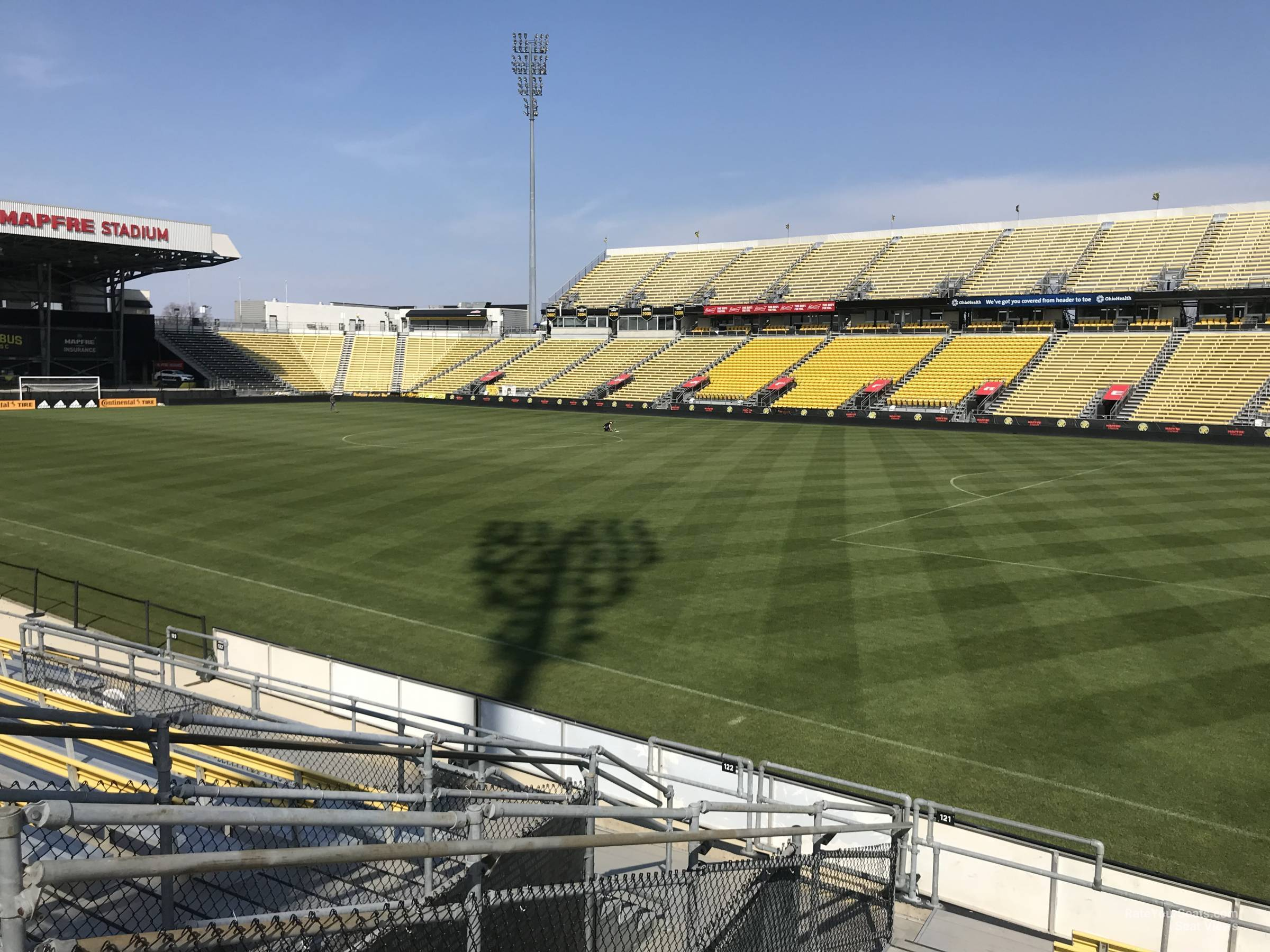 Seat View for Mapfre Stadium Section 121, Row 11