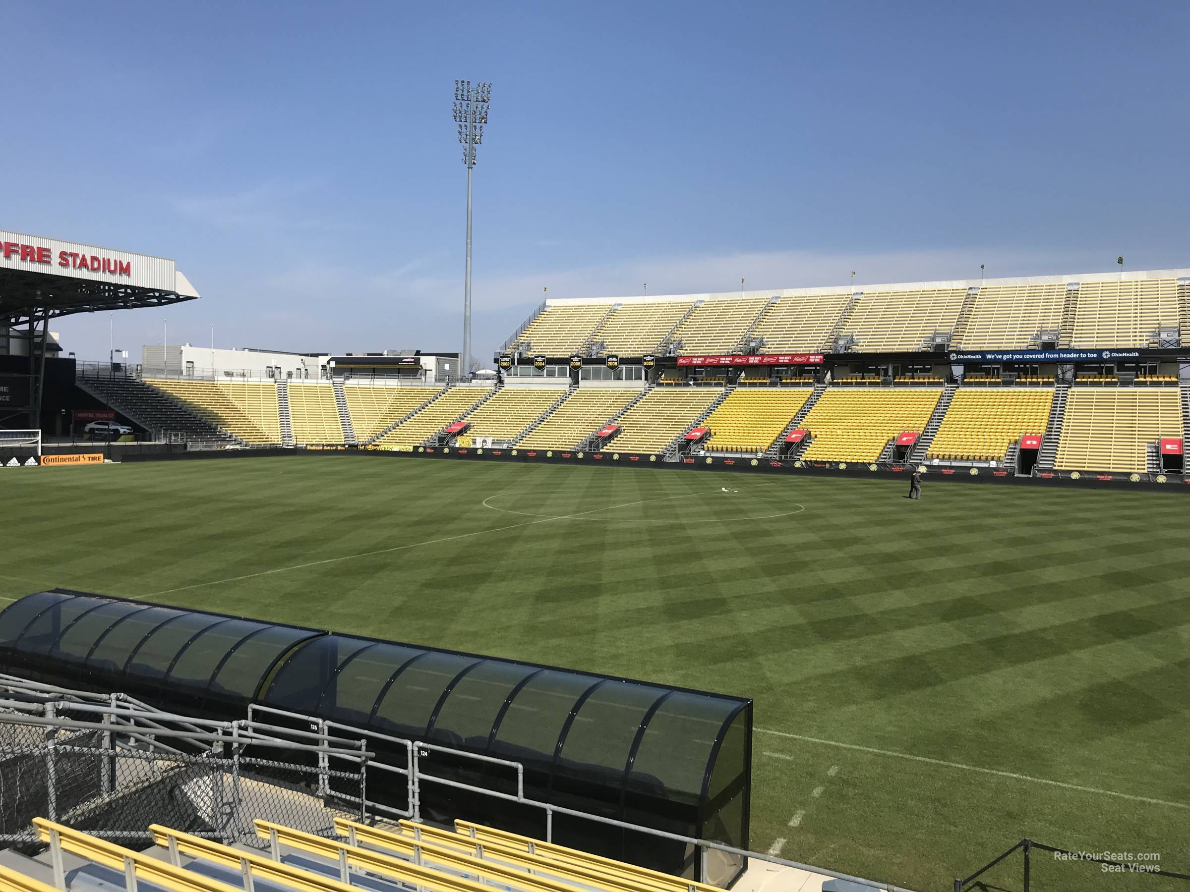 Seat View for Mapfre Stadium Section 124, Row 11