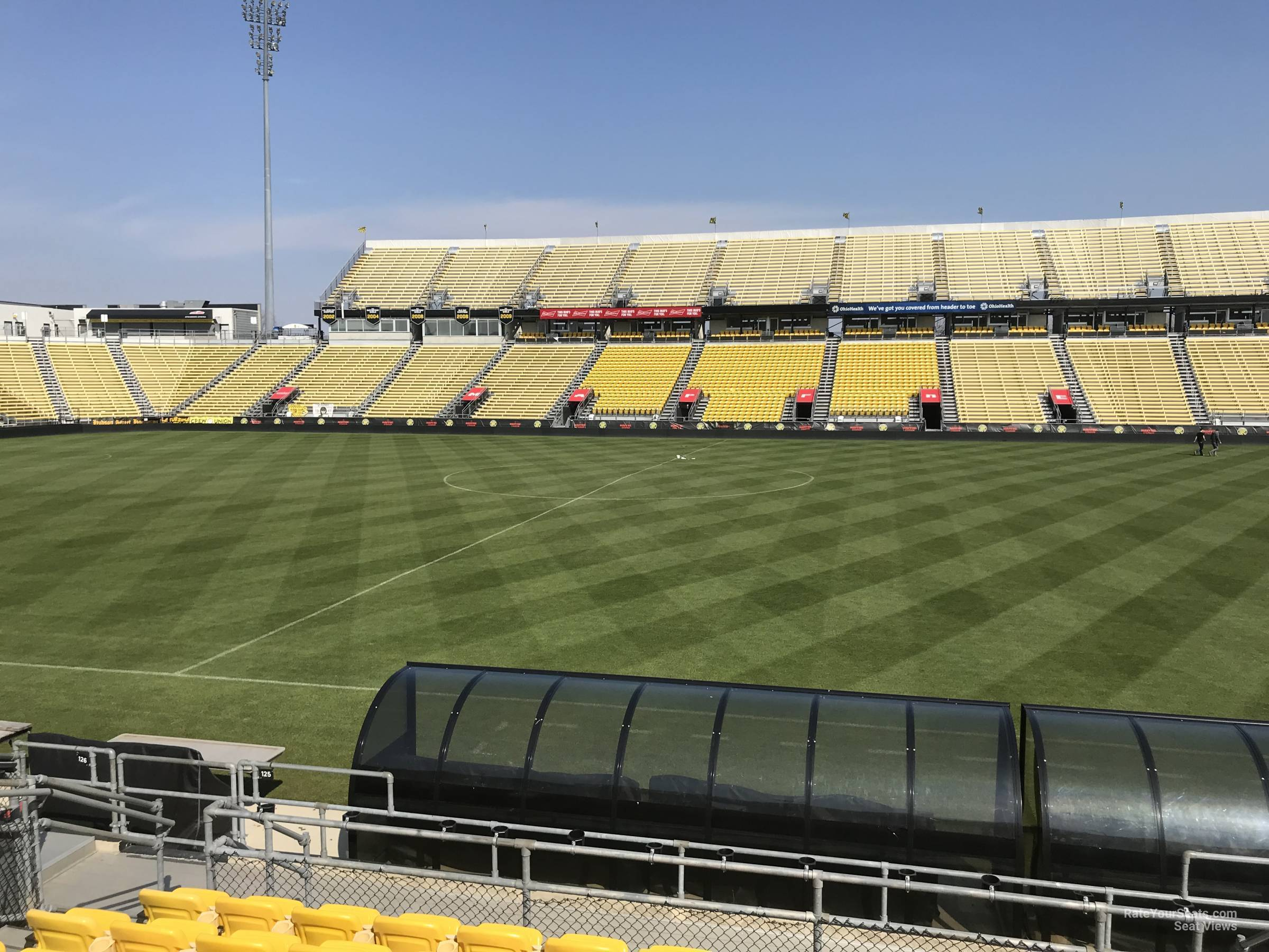 Seat View for Mapfre Stadium Section 125, Row 11