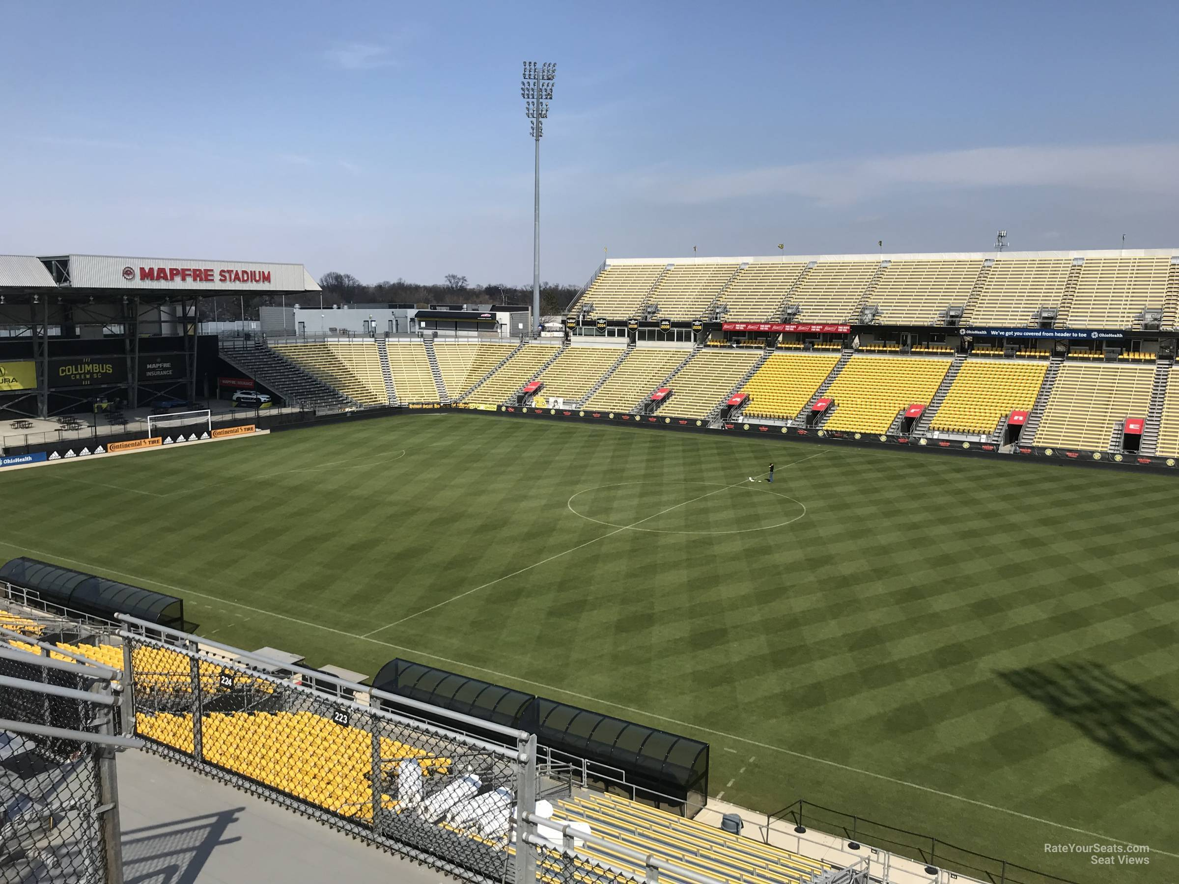 Seat View for Mapfre Stadium Section 223, Row 11