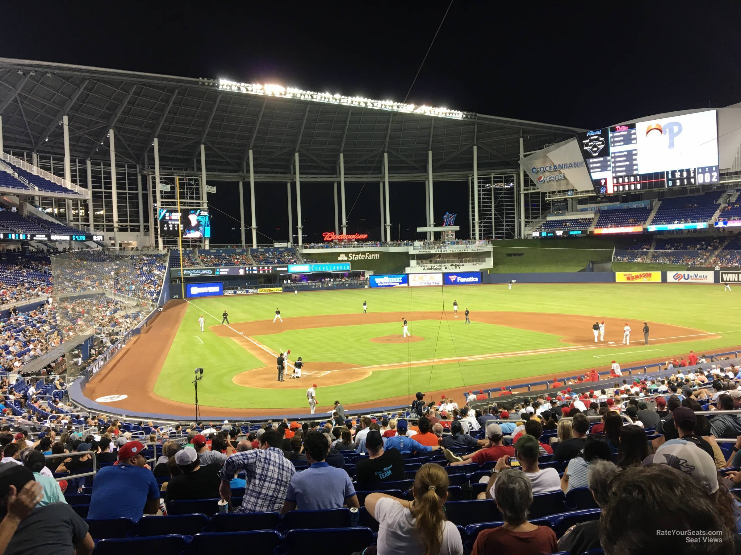 section 12 at loandepot park - miami marlins