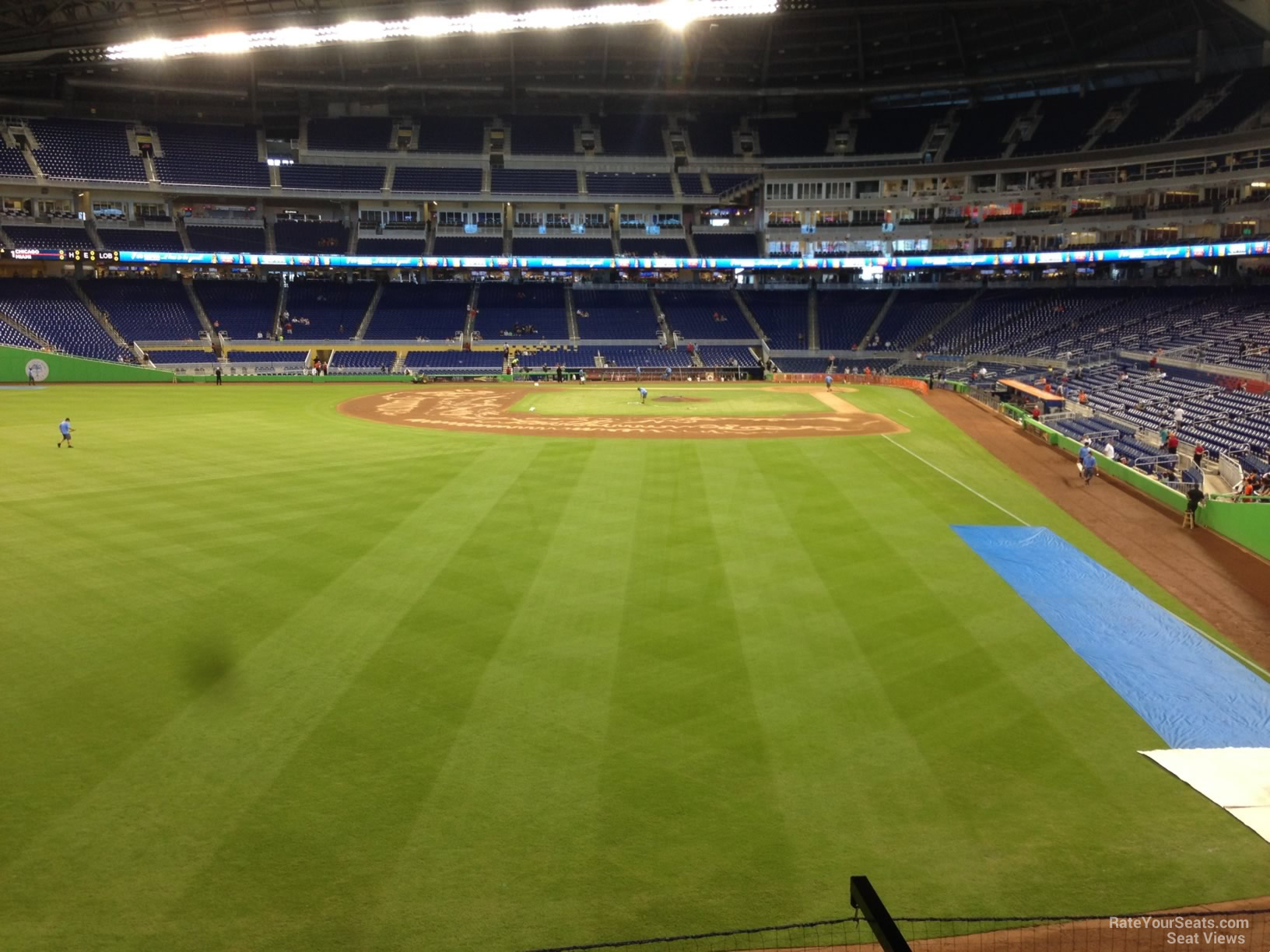 Miami Marlins Seat View For Park Section 30