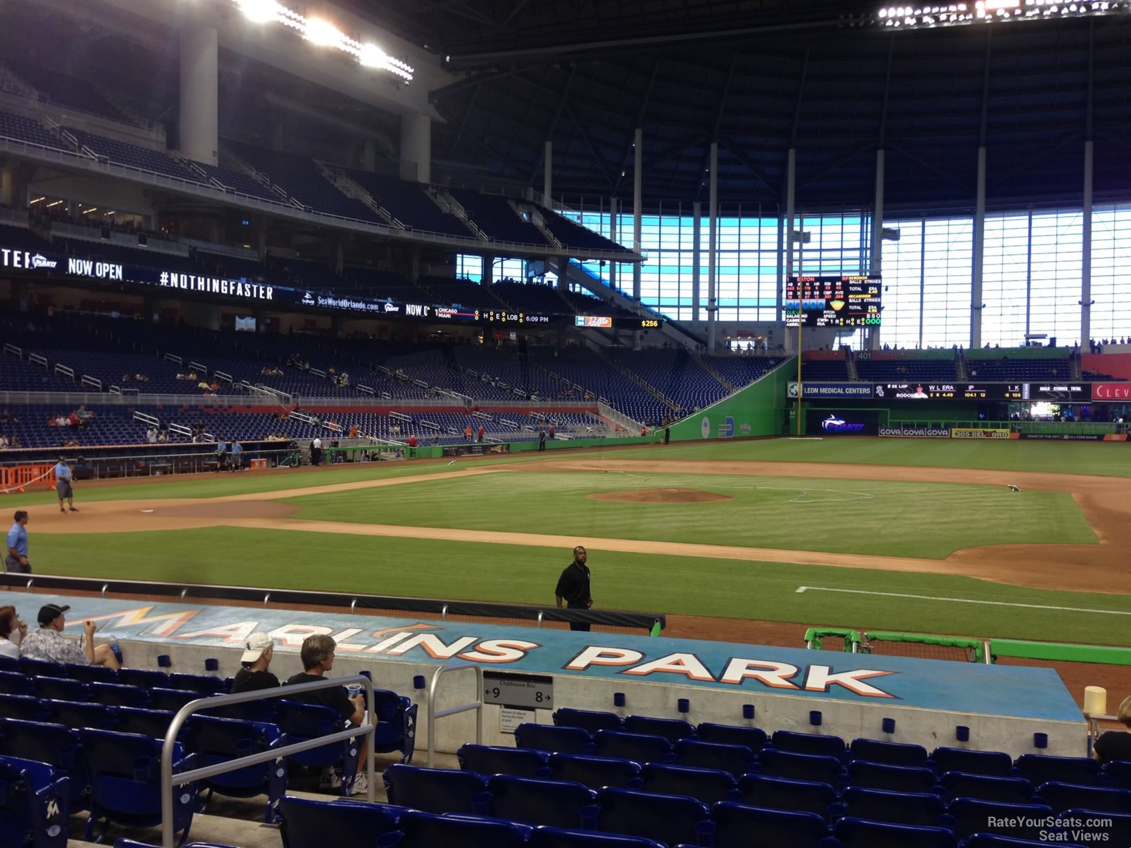 Marlins Park Section 8 Miami Marlins Rateyourseatscom