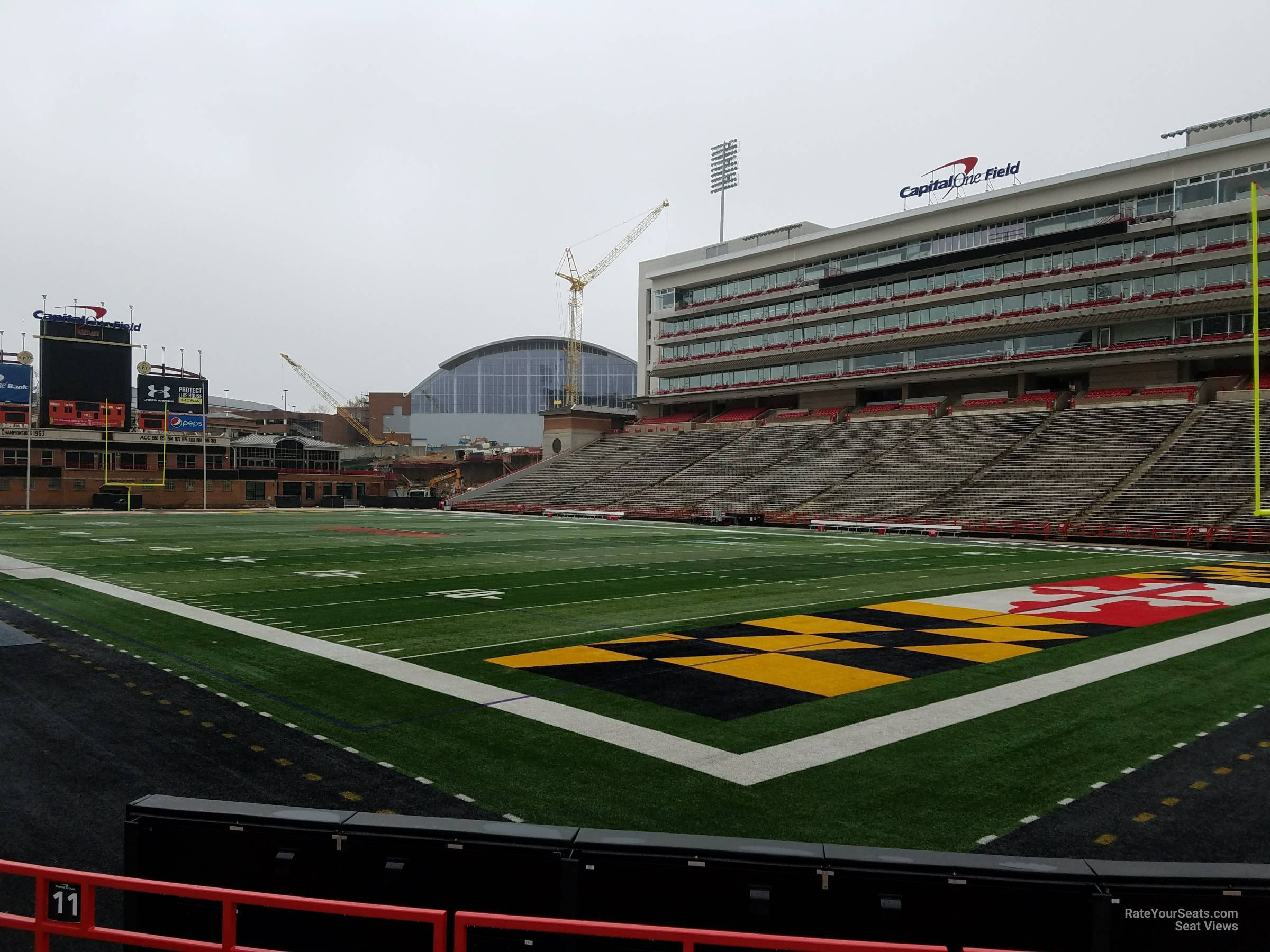 Seat View for Maryland Stadium Section 11, Row G