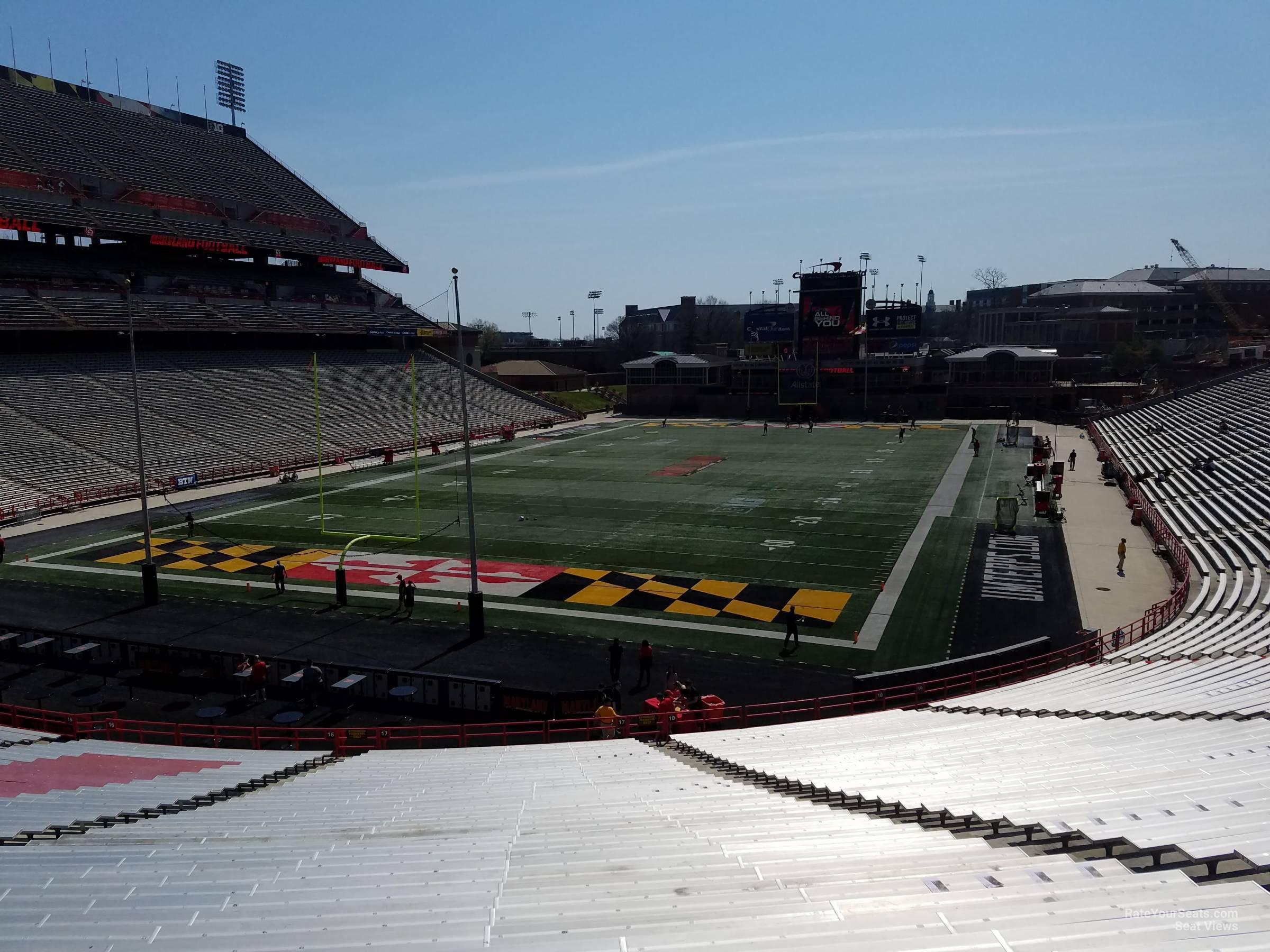 Seat View for Maryland Stadium Section 17, Row SS