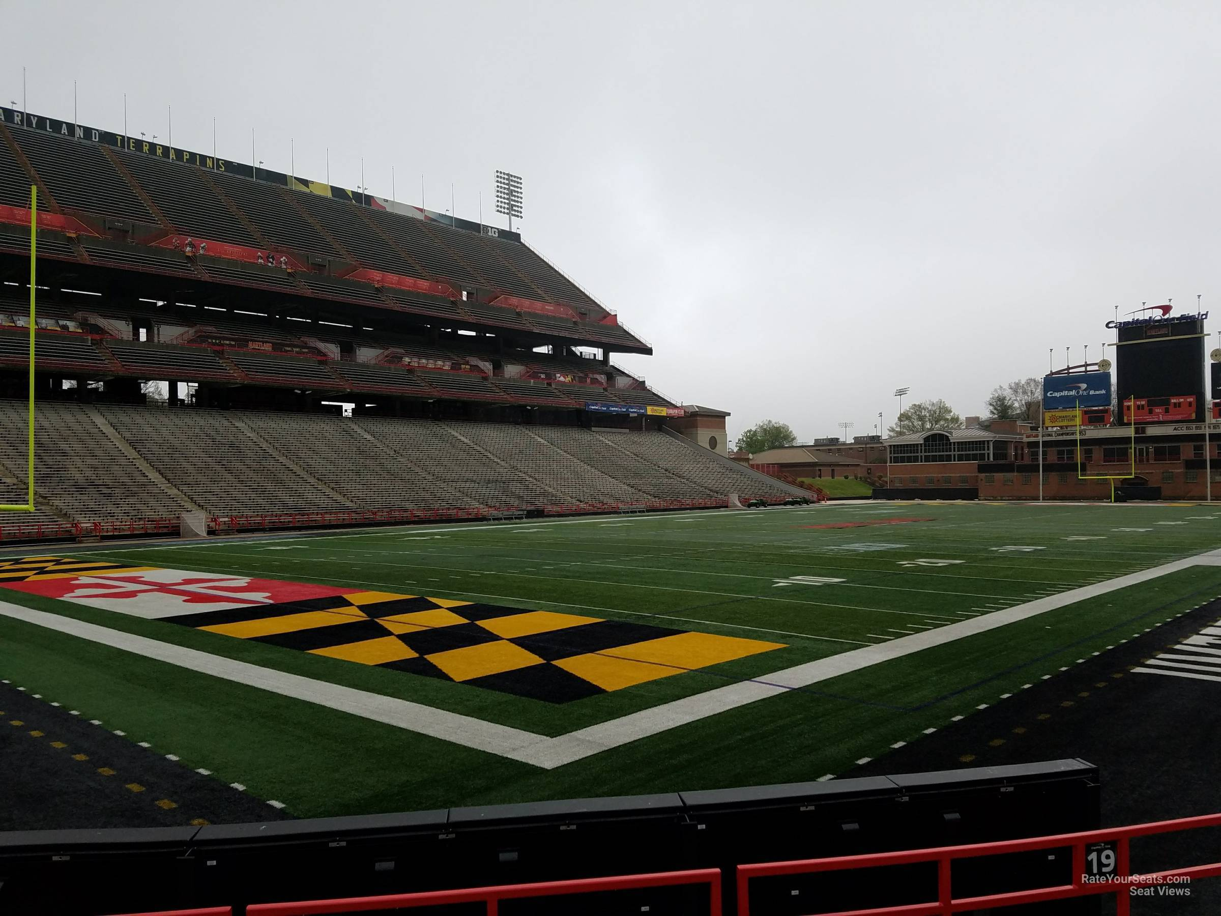 Seat View for Maryland Stadium Section 19, Row G