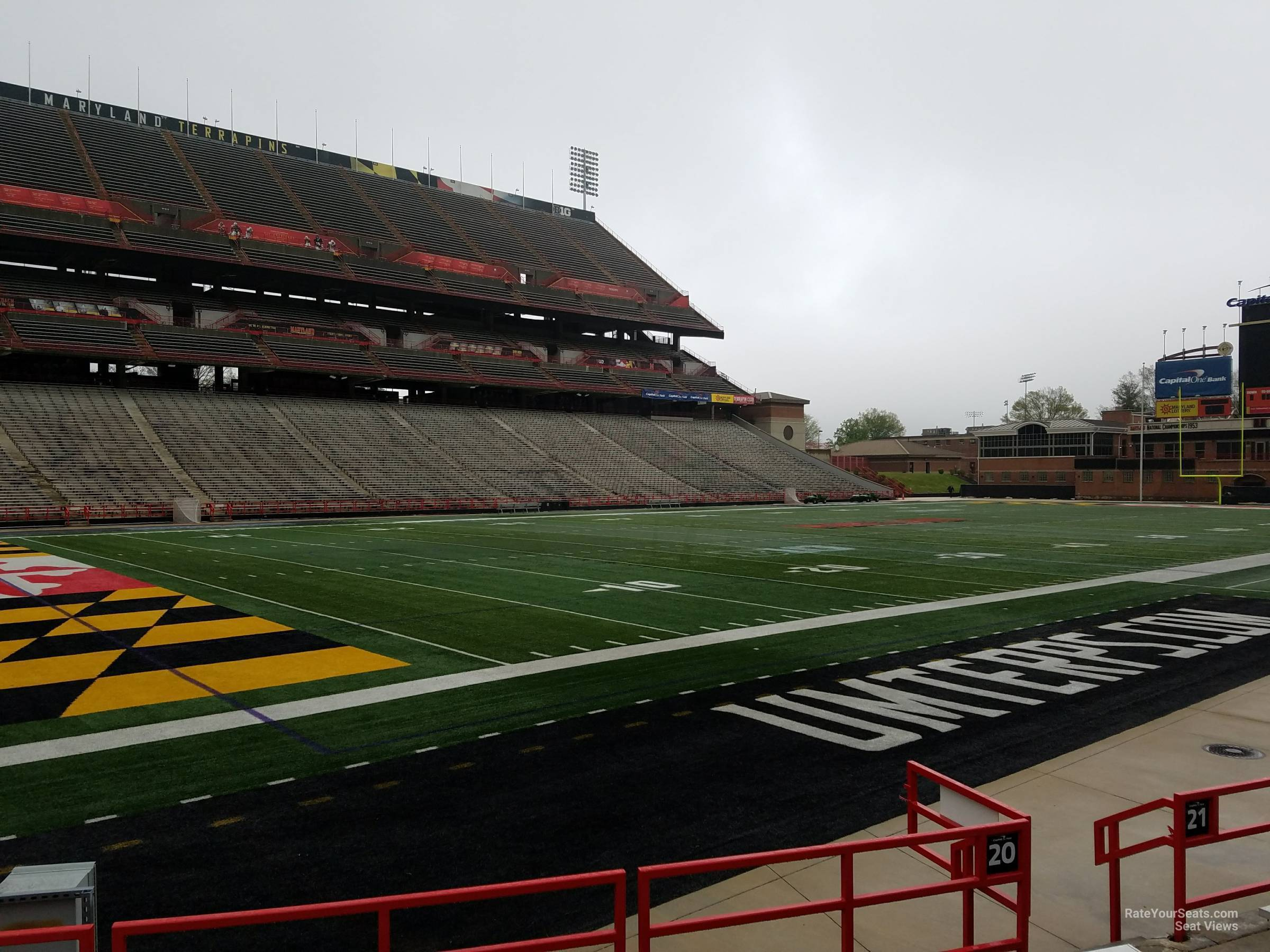 Seat View for Maryland Stadium Section 20, Row G