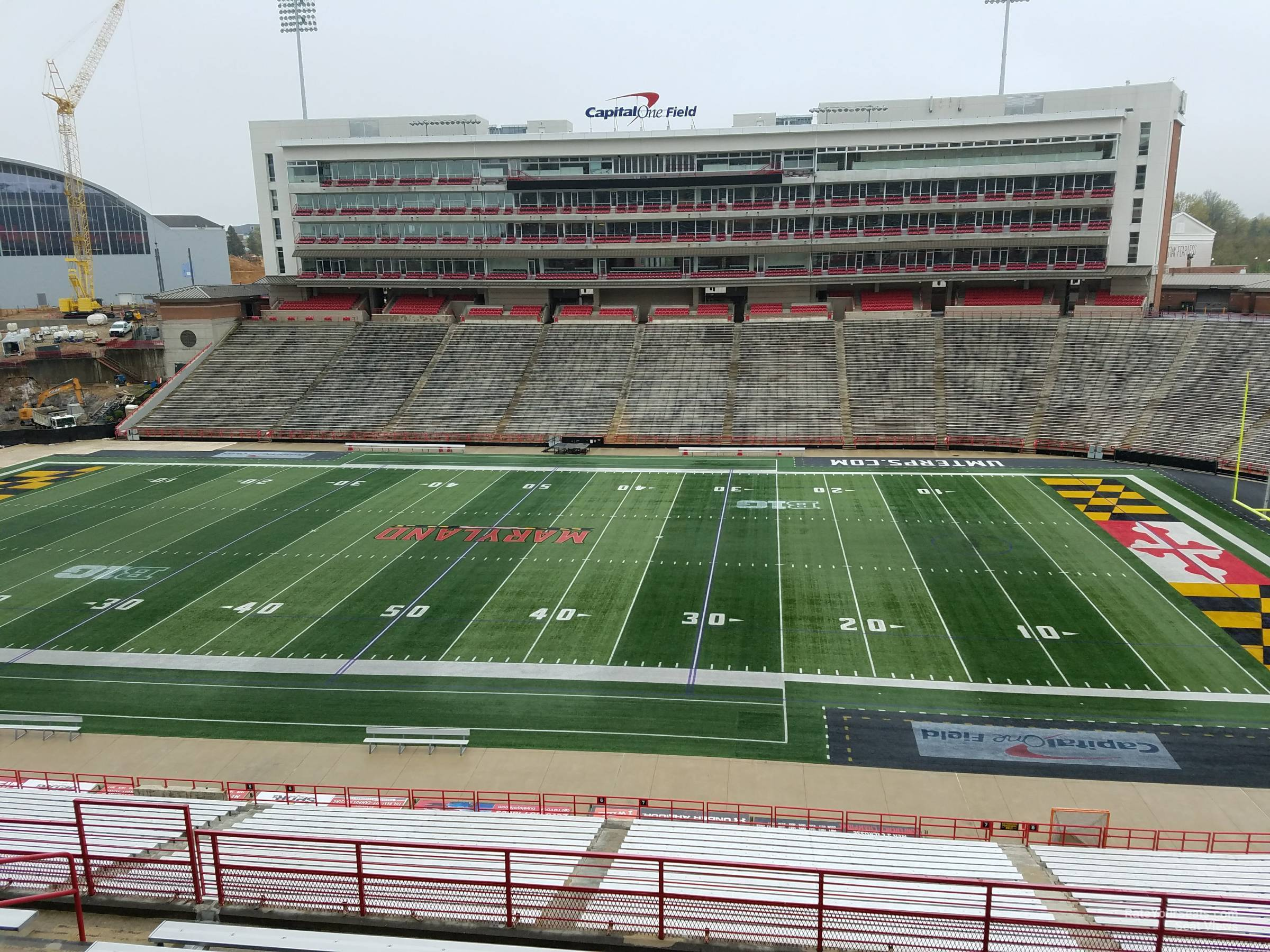 Seat View for Maryland Stadium Section 208, Row J
