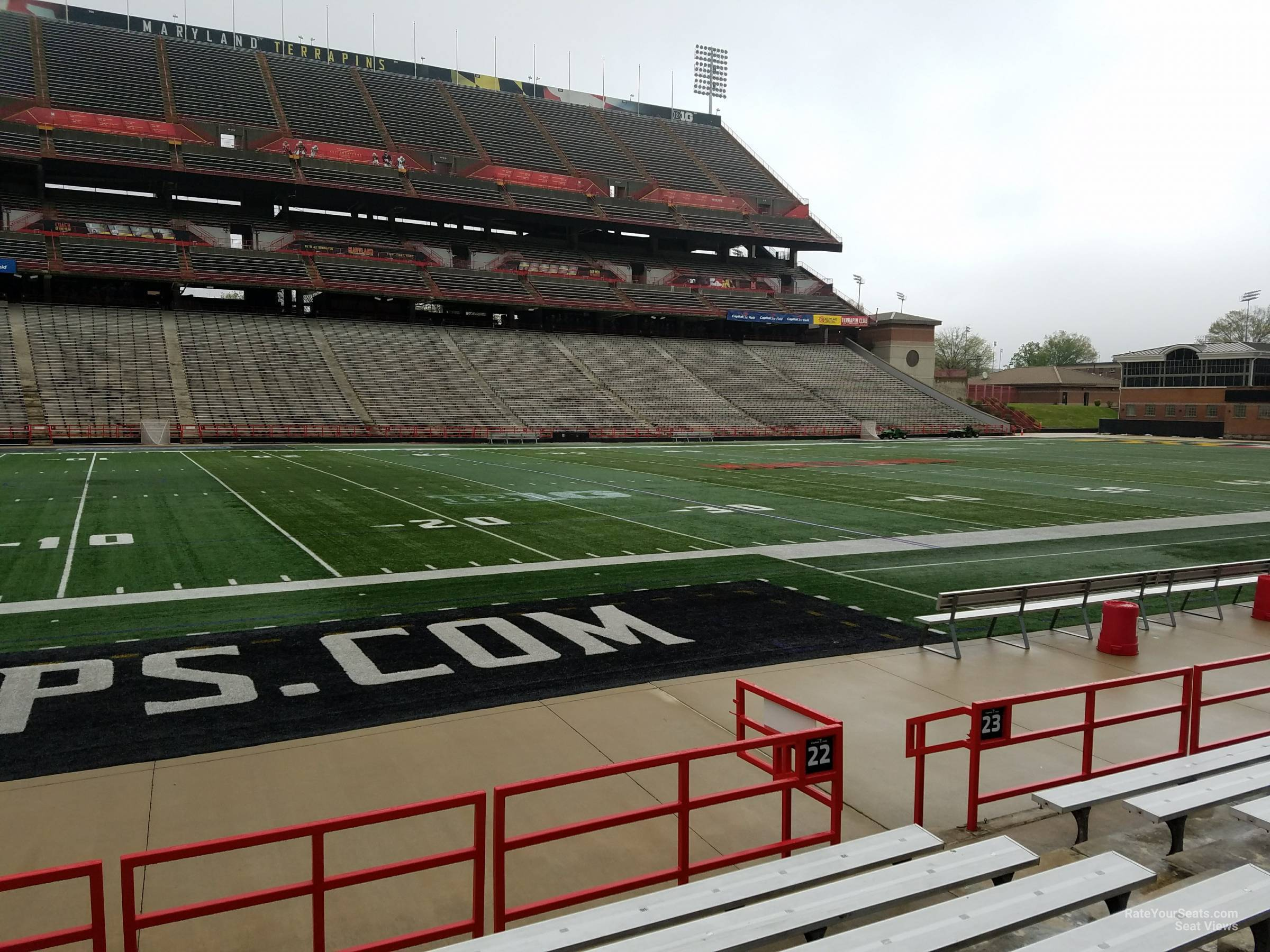 Seat View for Maryland Stadium Section 22, Row G
