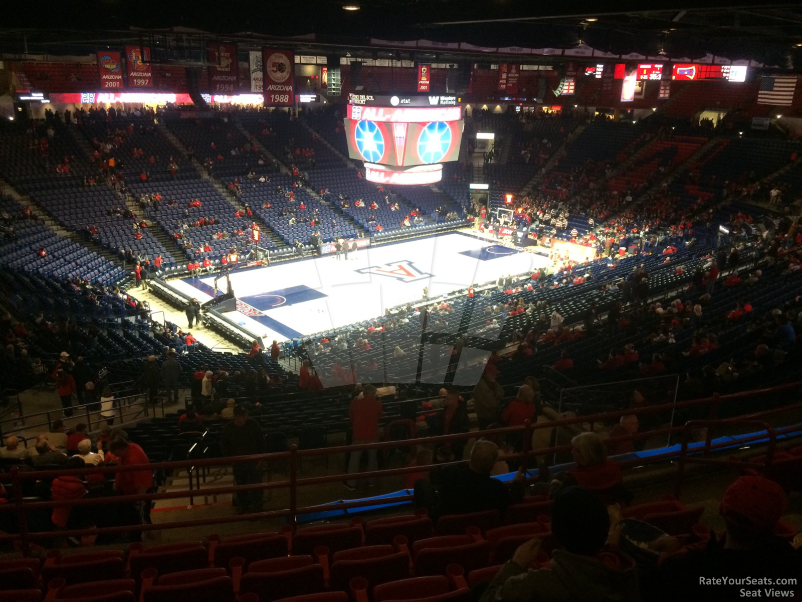 Seat View for McKale Center Section 103 Row 41