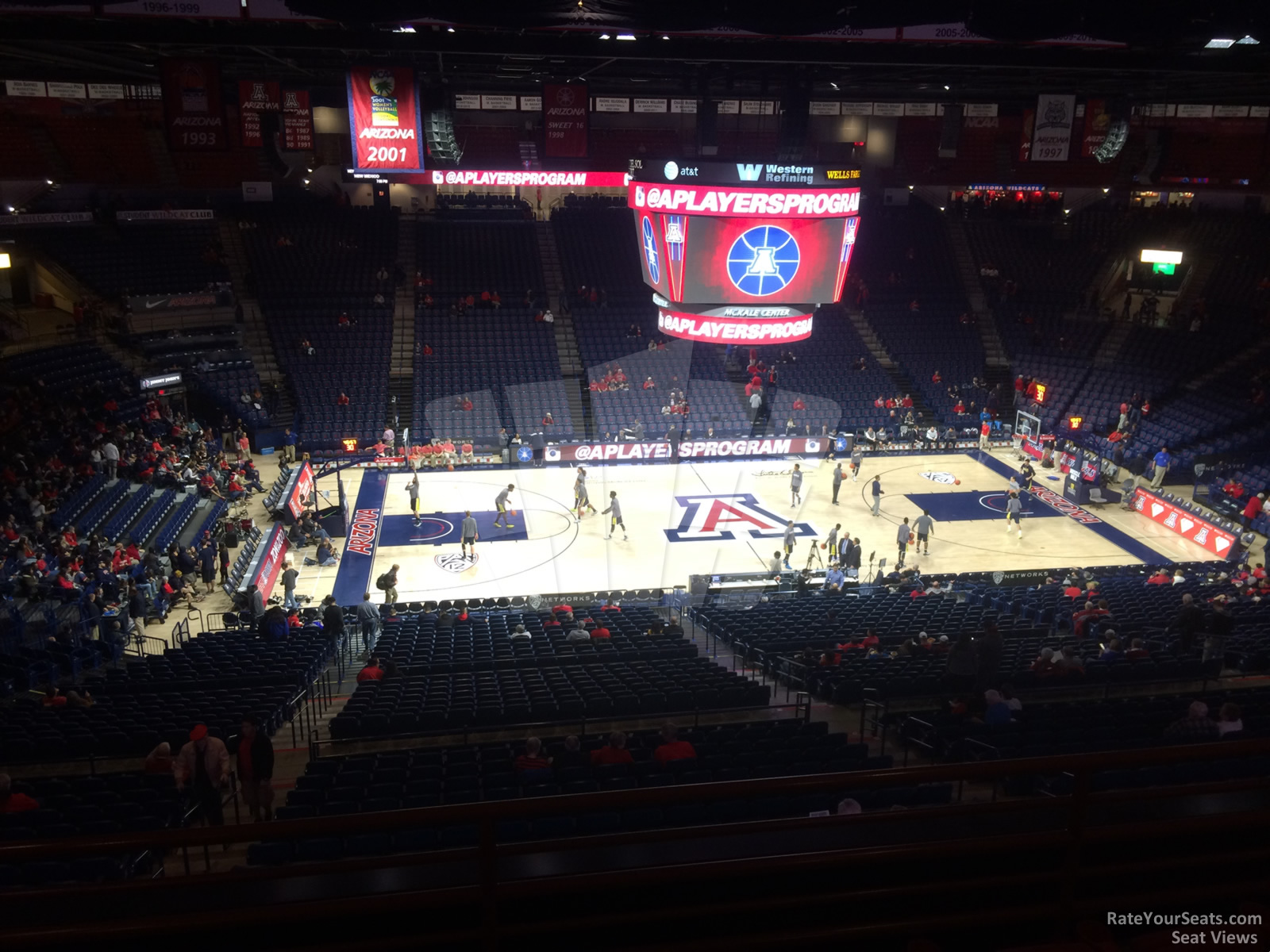 Seat View for McKale Center Section 115C, Row 35