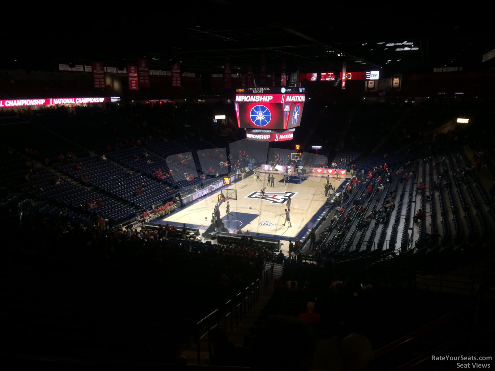 Seat View for McKale Center Section 119, Row 35