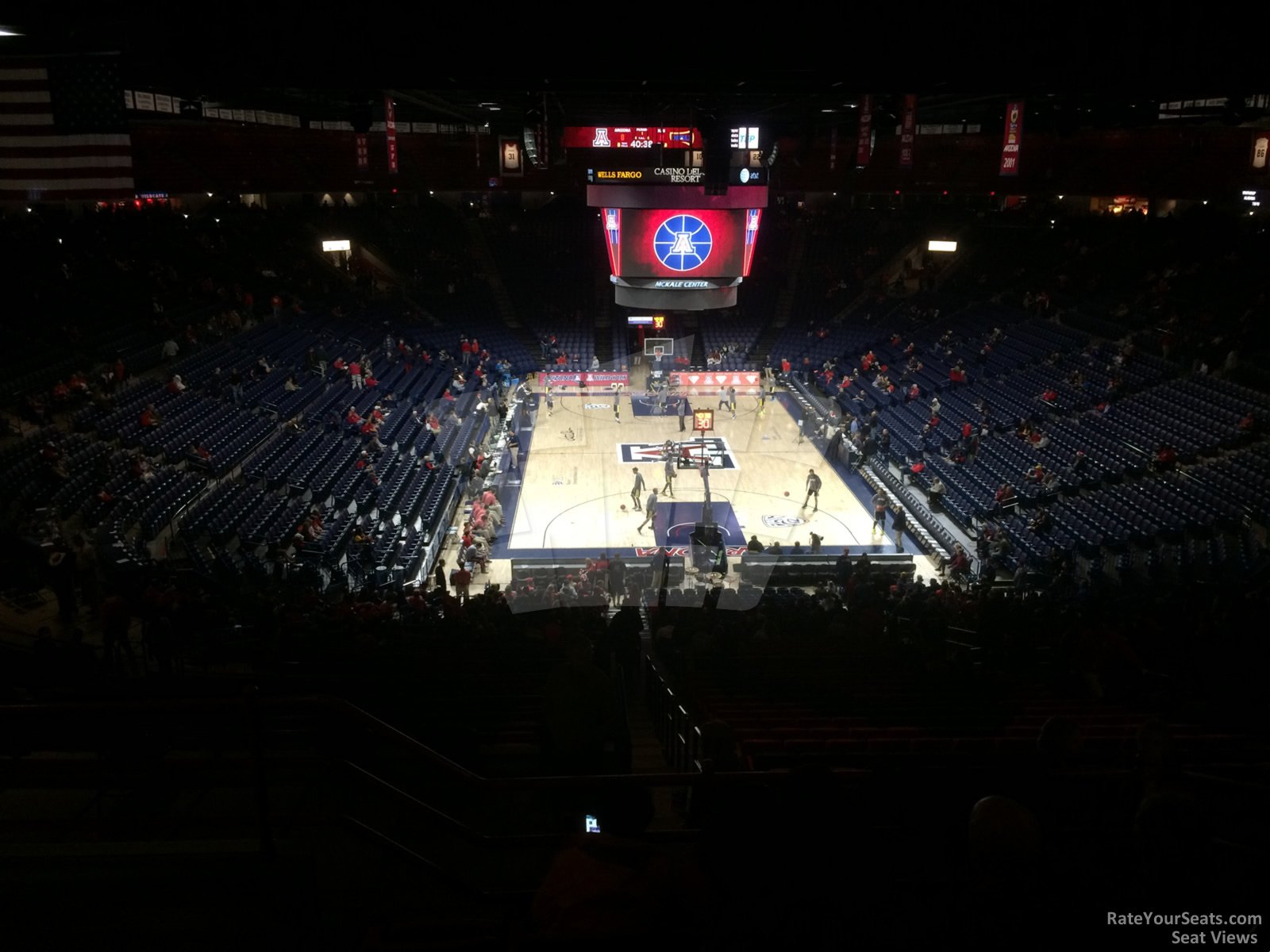 Seat View for McKale Center Section 121, Row 35