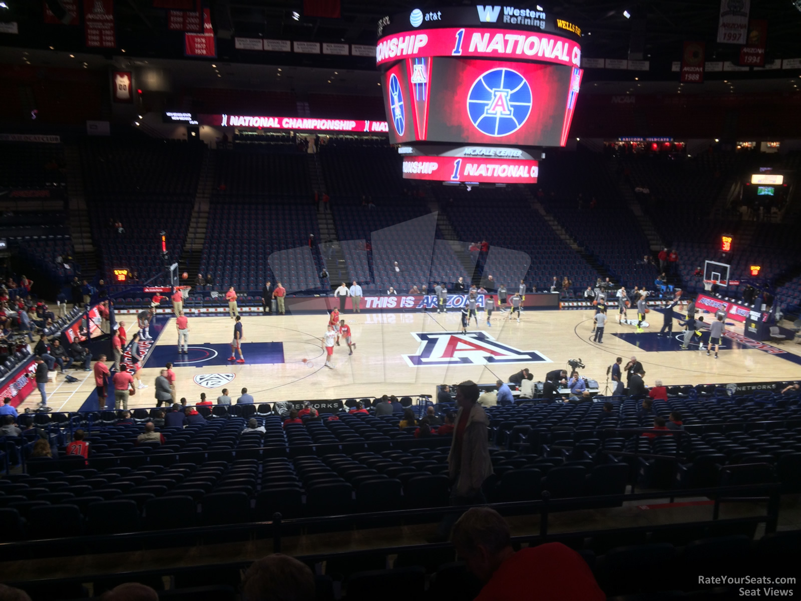 Seat View for McKale Center Section 16 Row 23