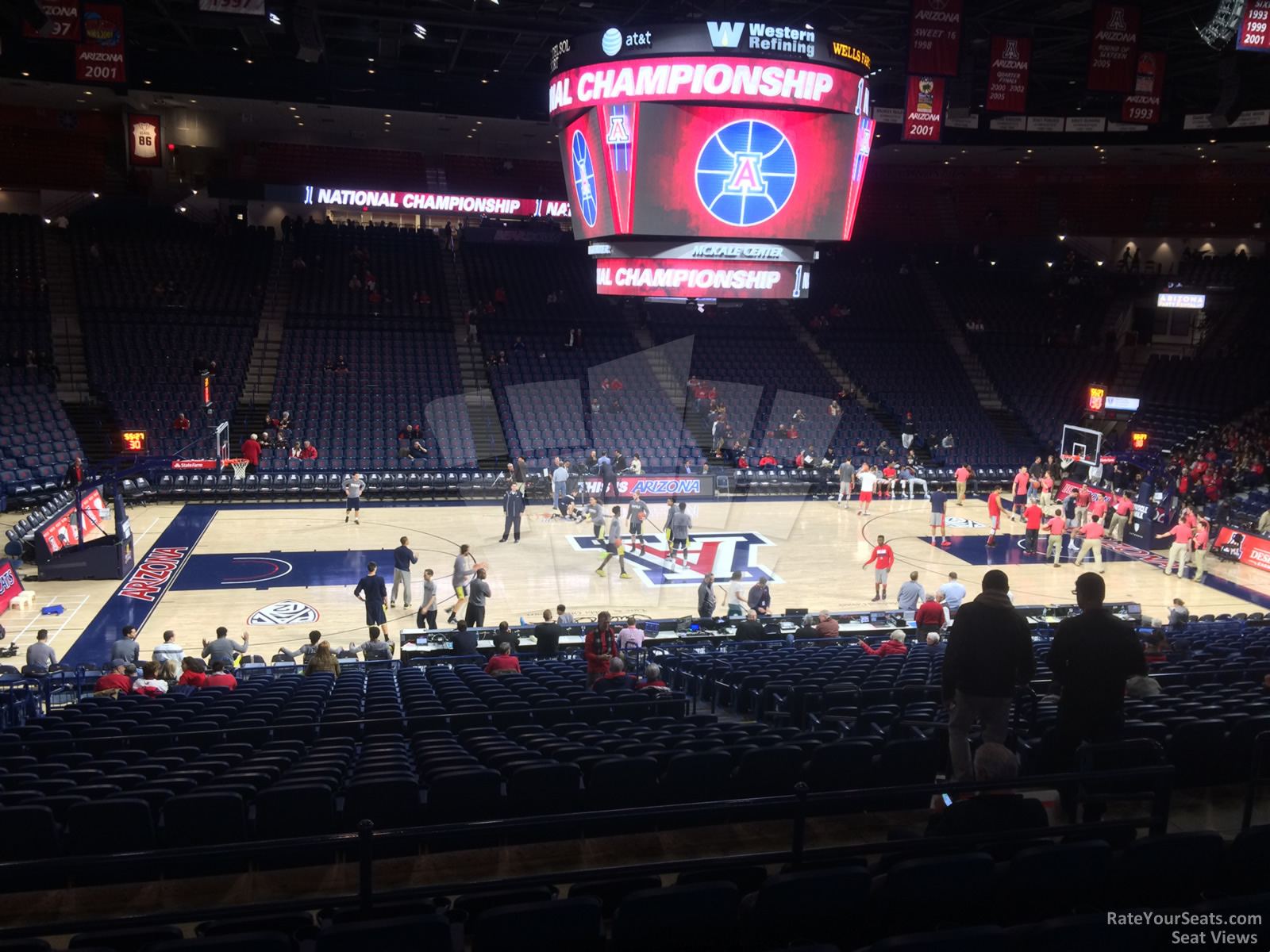 Seat View for McKale Center Section 4, Row 23