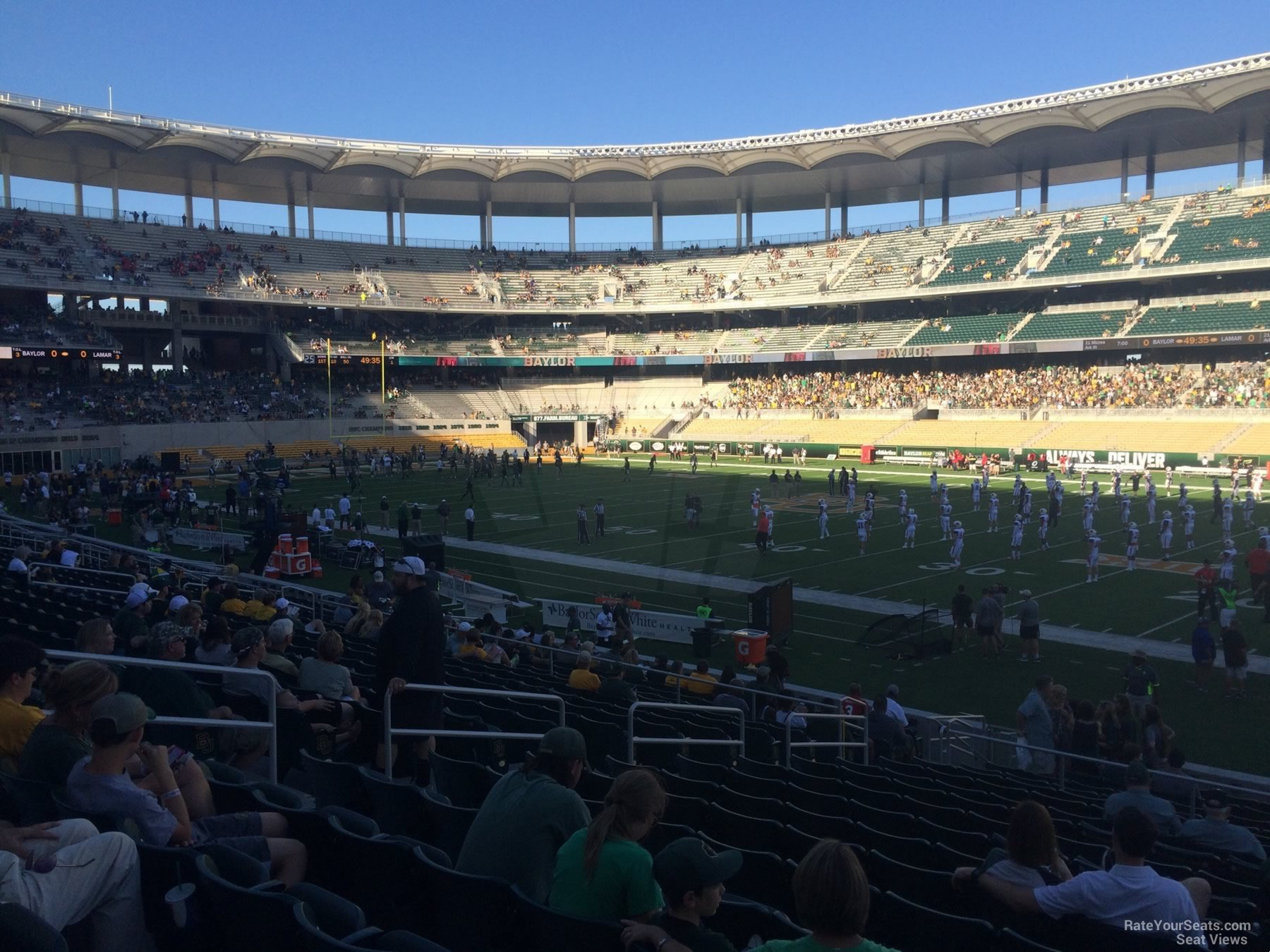 Seat View for McLane Stadium Section 103, Row 20