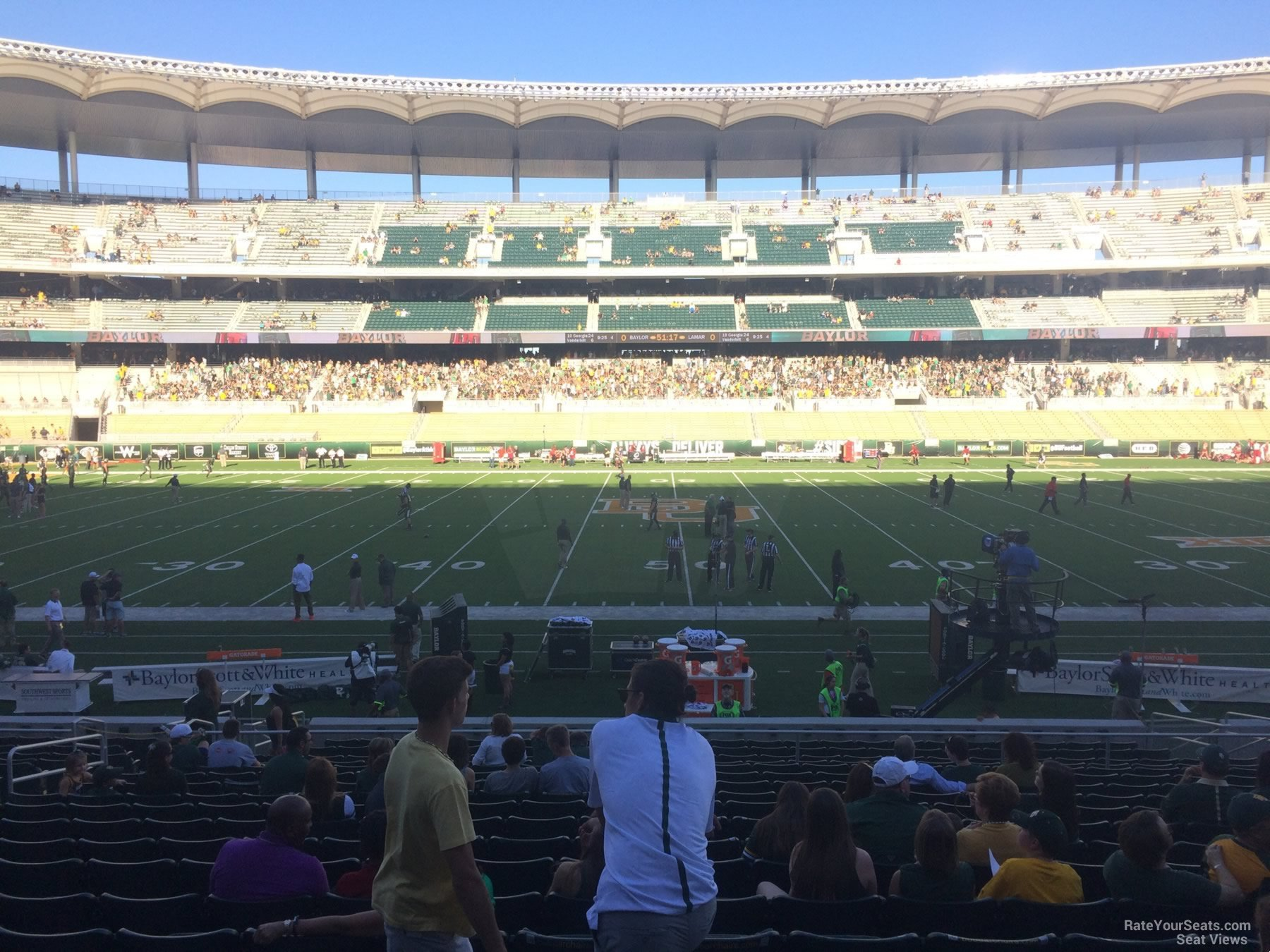 Seat View for McLane Stadium Section 106, Row 20
