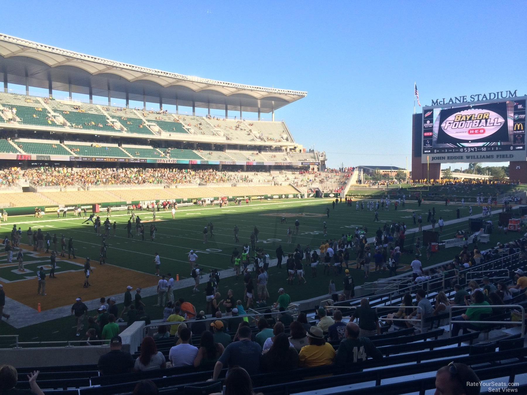 Seat View for McLane Stadium Section 111, Row 20