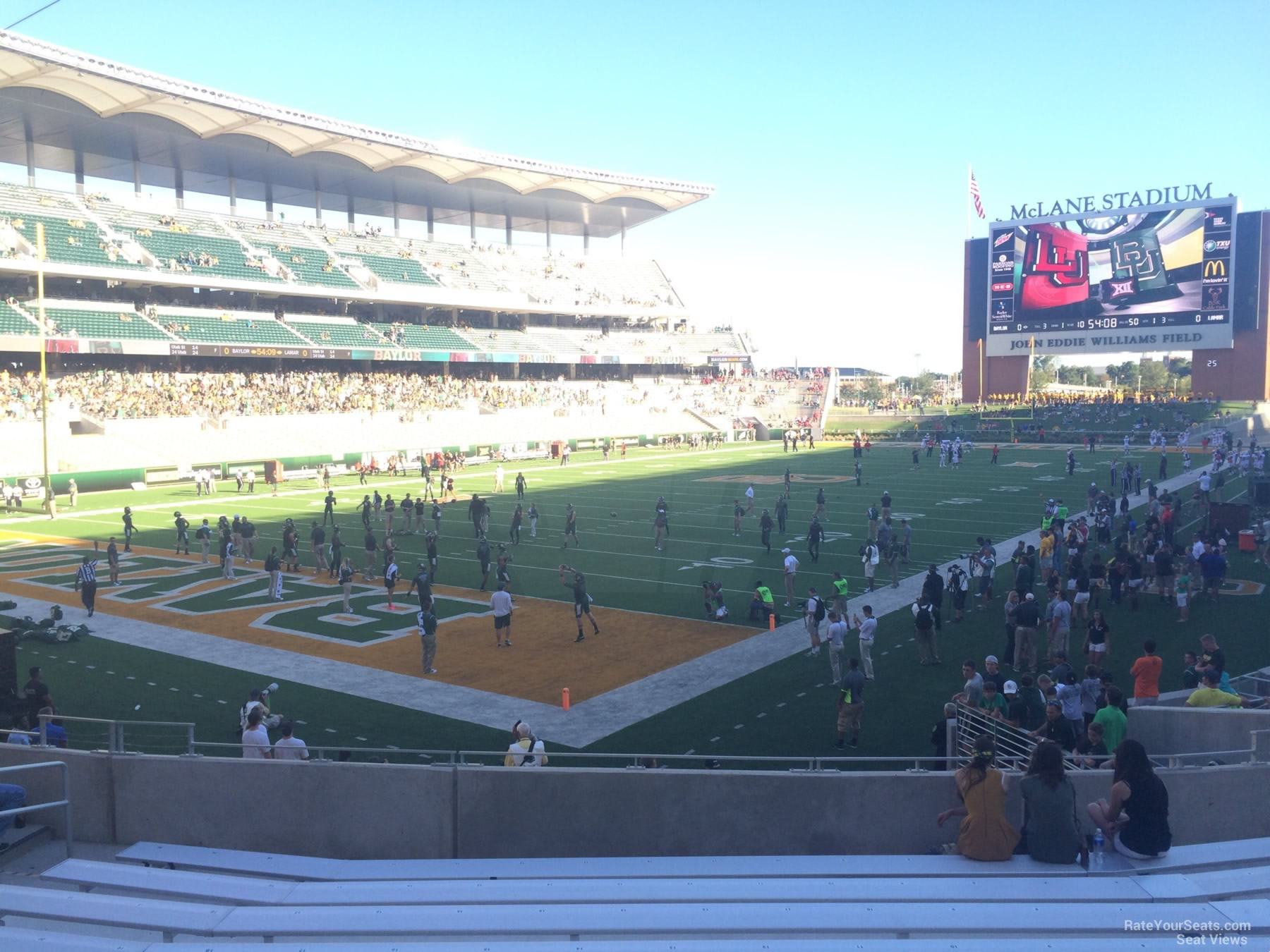 Seat View for McLane Stadium Section 112, Row 20