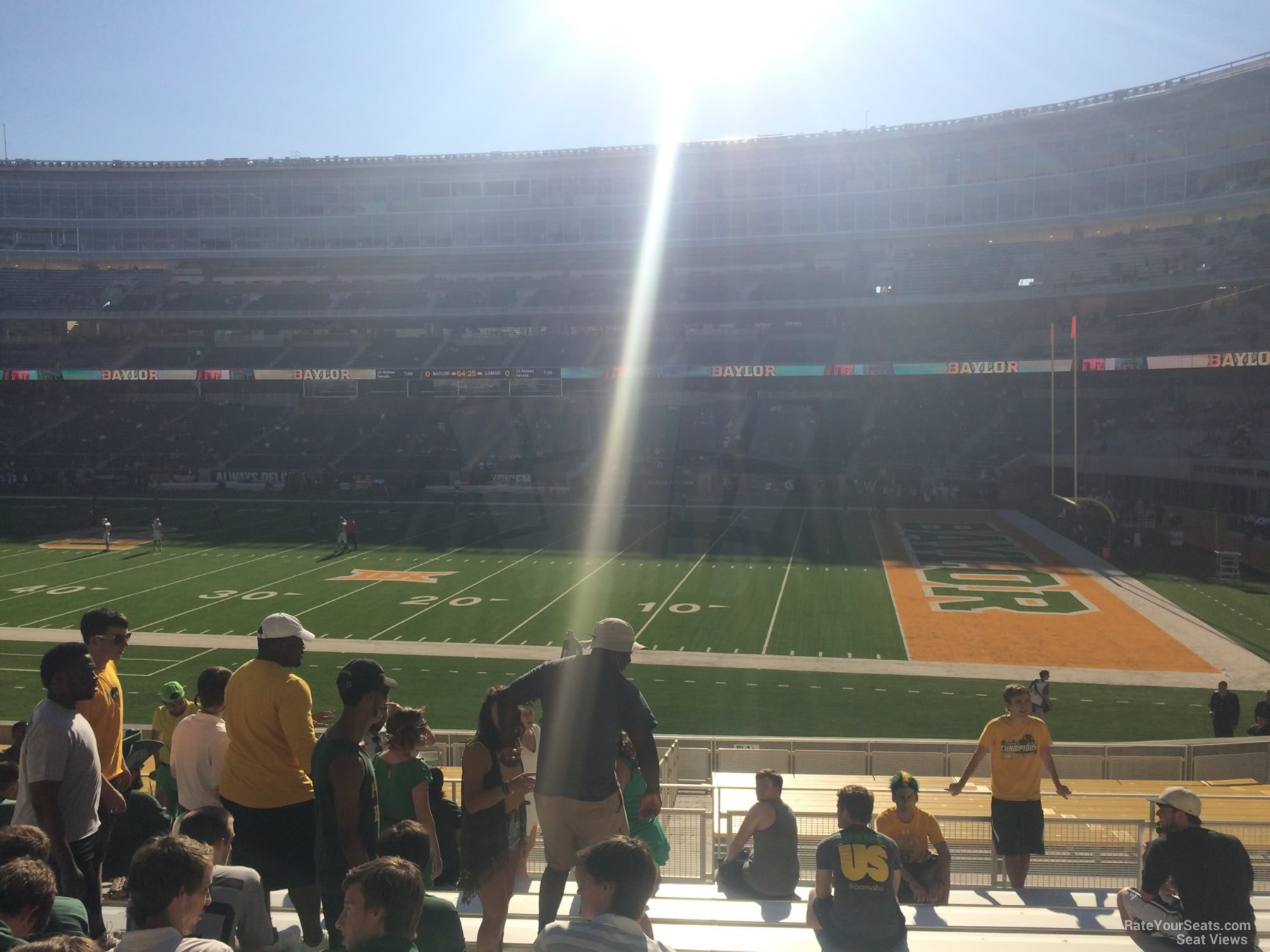 Seat View for McLane Stadium Section 121, Row 25