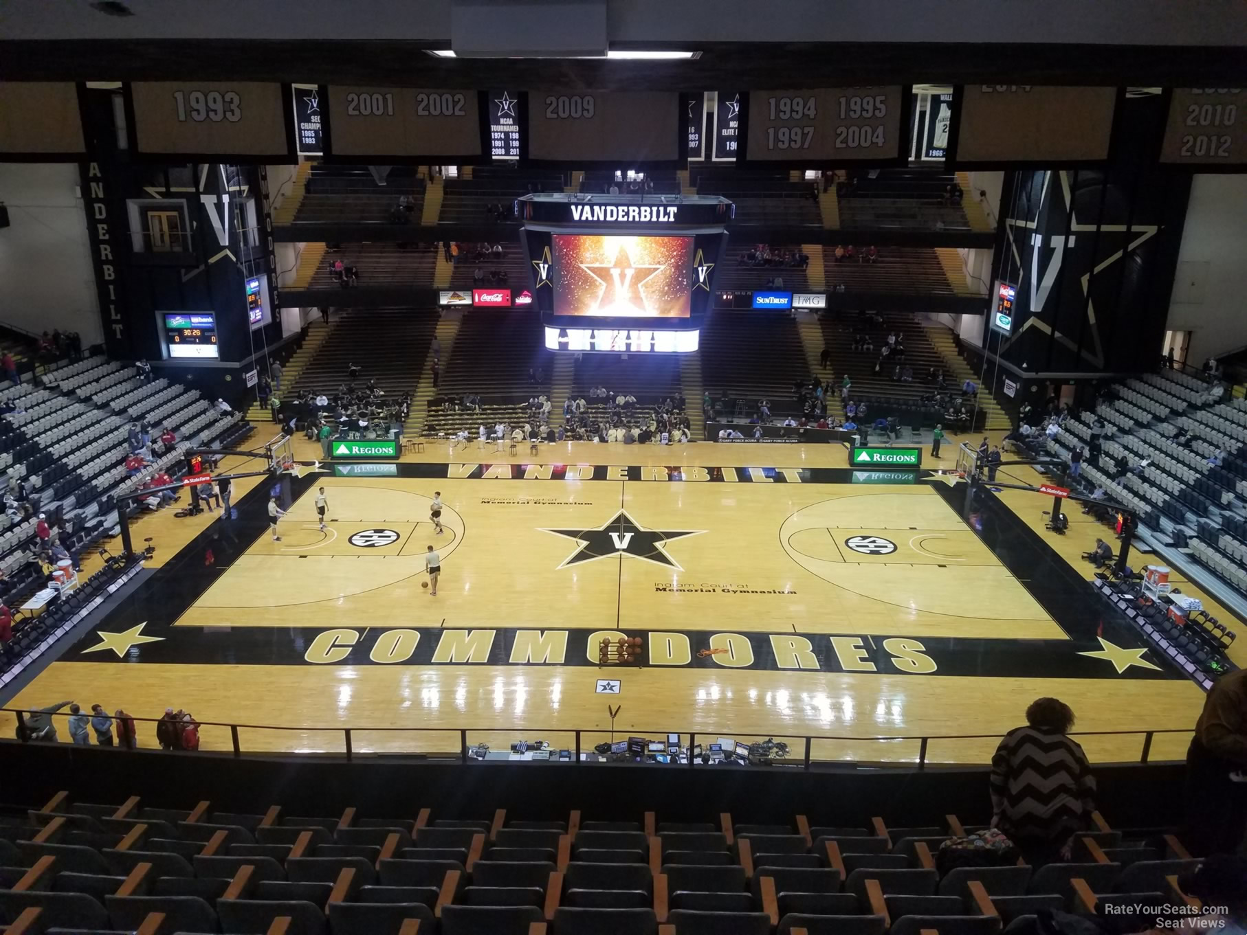 Seat View For Memorial Gymnasium Section 3c Row 7