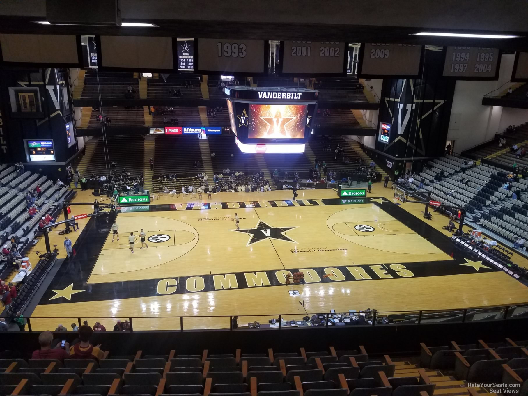 Seat View For Memorial Gymnasium Section Row 7