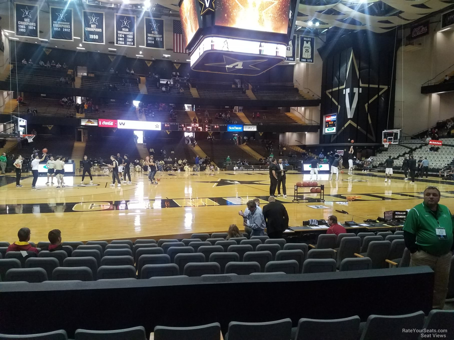 Seat View for Memorial Gymnasium Section D, Row 13