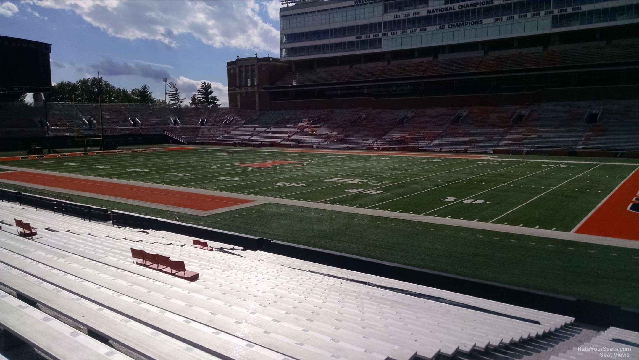 Seat View for Memorial Stadium Section 101, Row 25