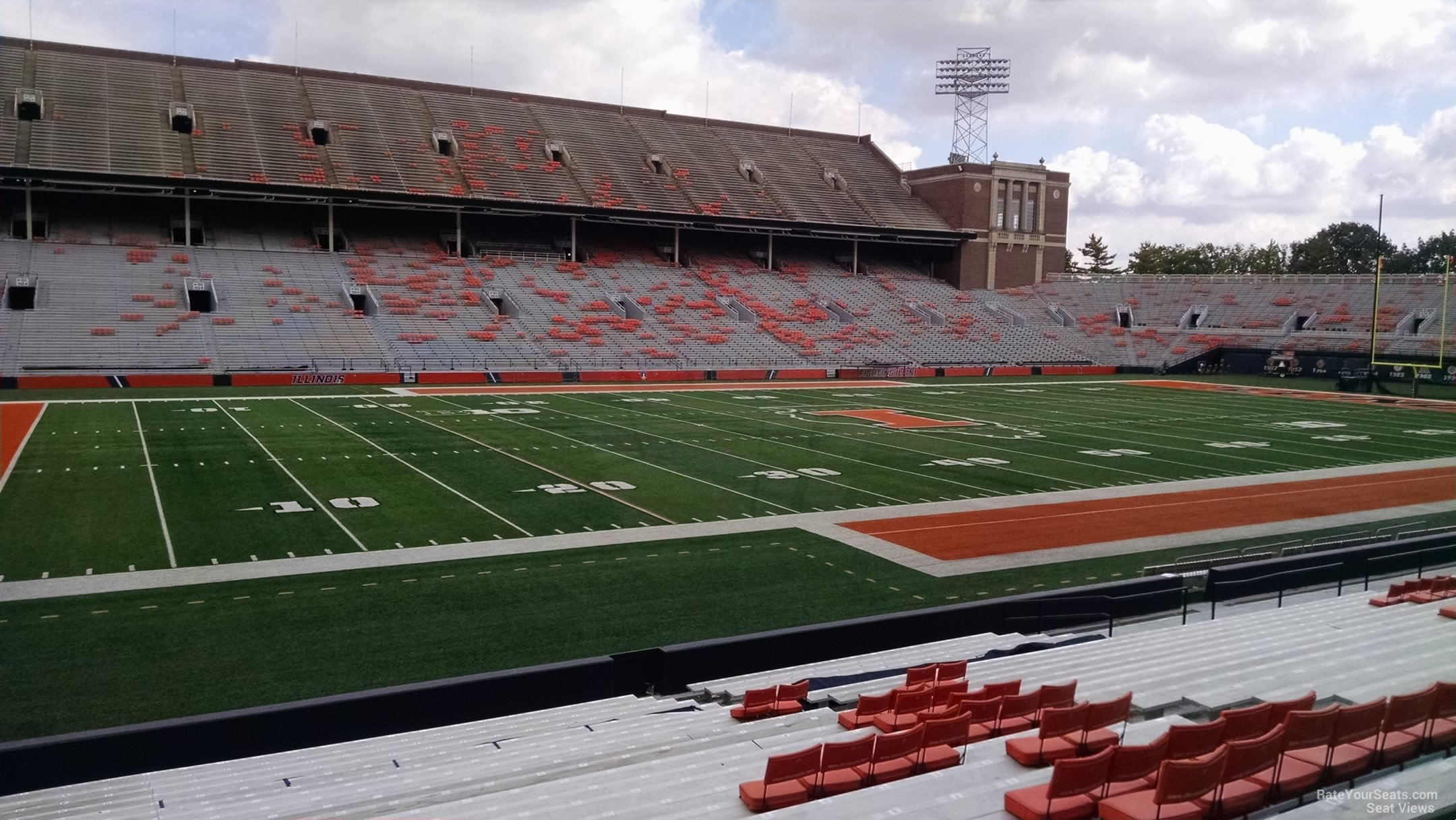 Seat View for Memorial Stadium Section 130, Row 25