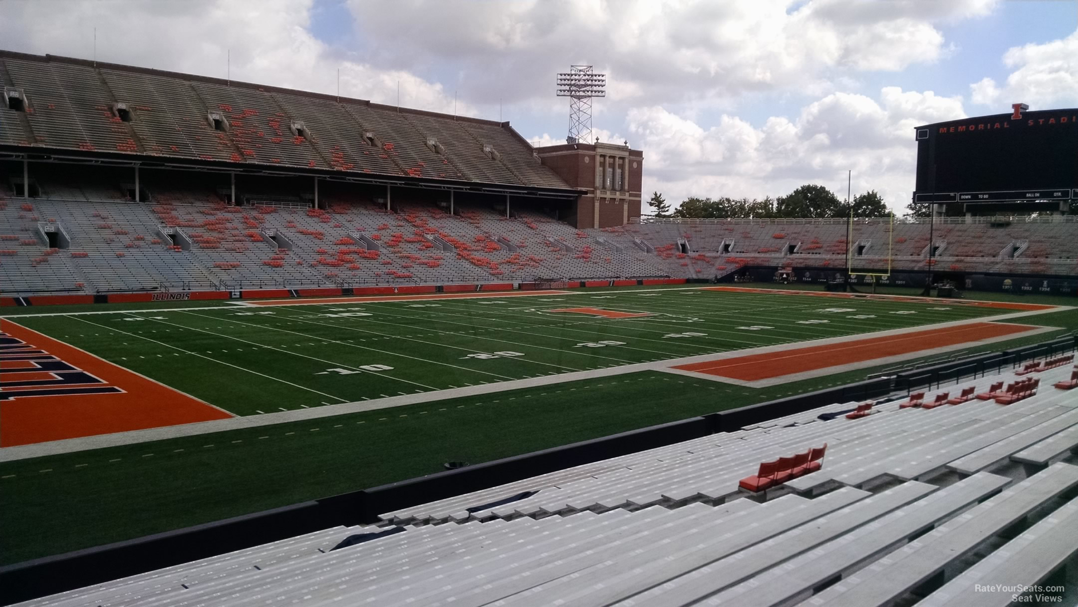 Seat View for Memorial Stadium Section 131, Row 25