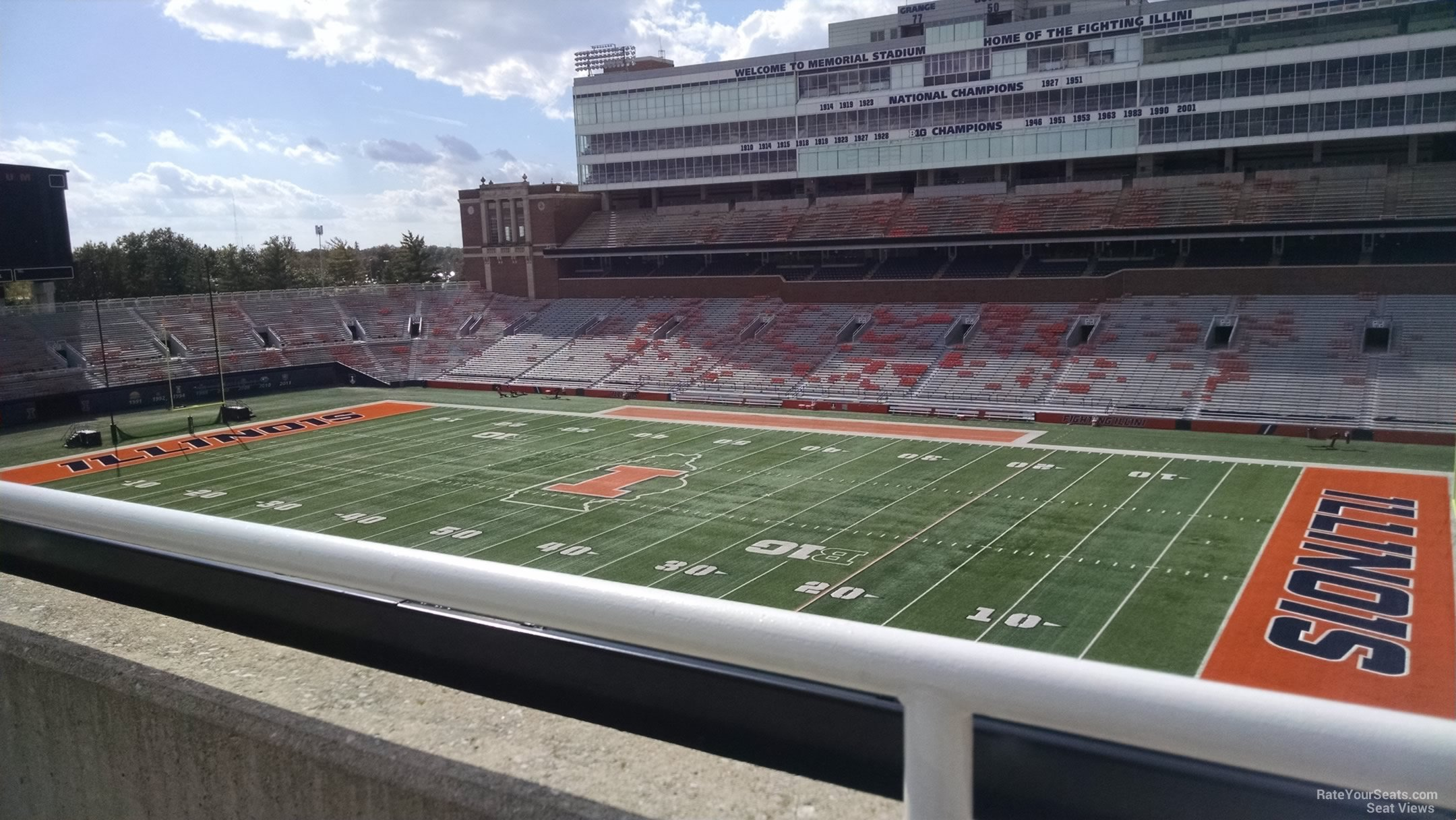 Seat View for Memorial Stadium Section 201, Row 1