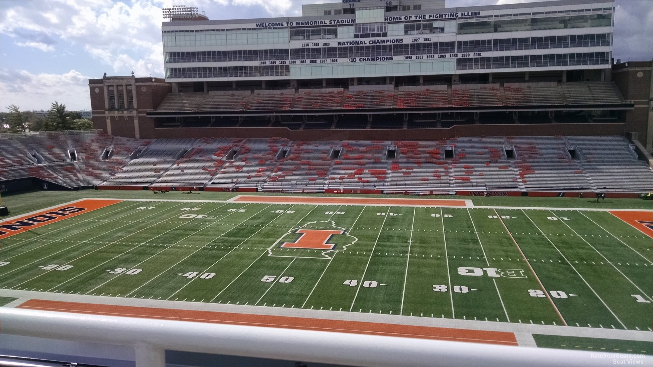 Seat View for Memorial Stadium Section 204, Row 1