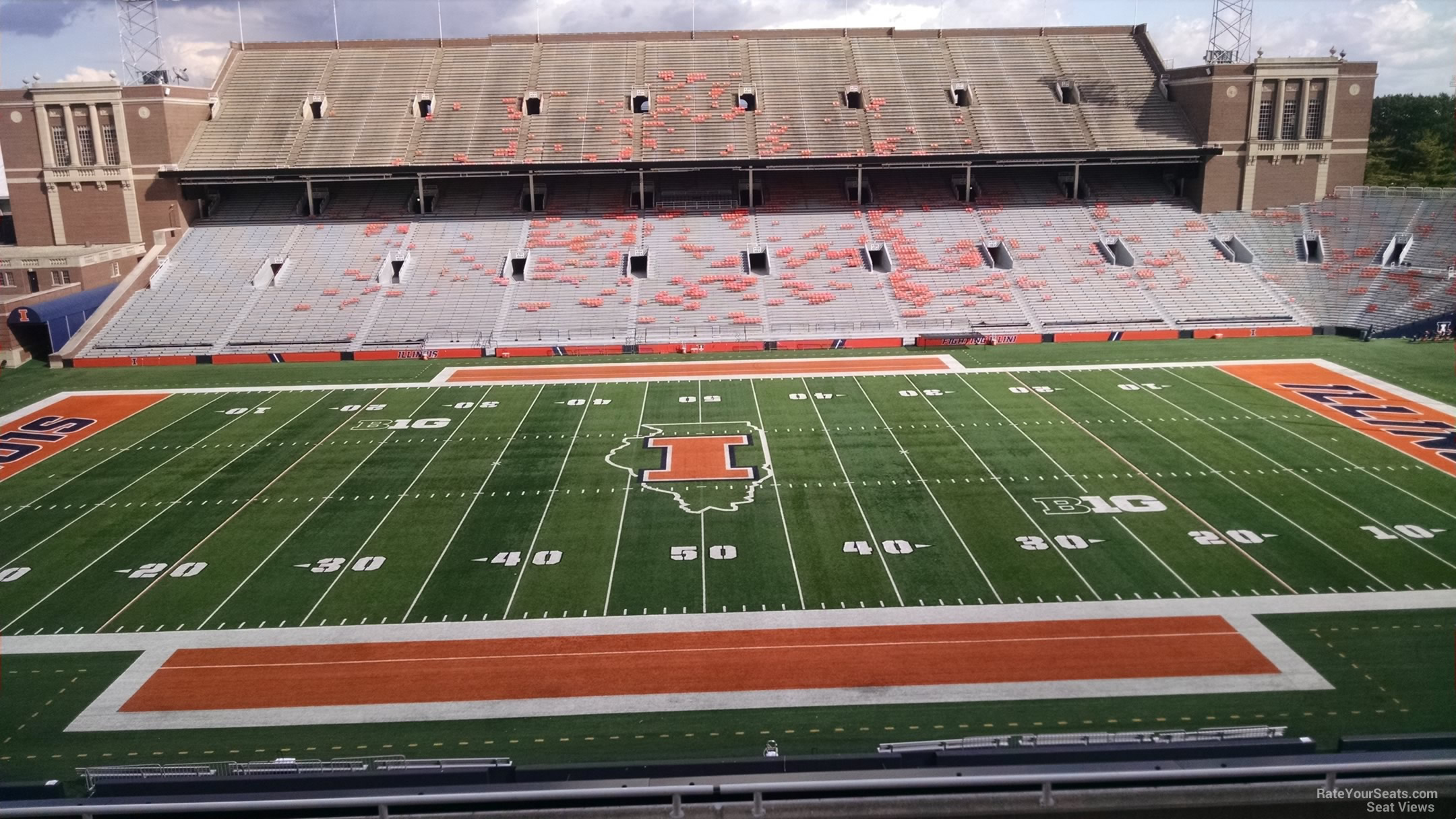 Seat View for Memorial Stadium - IL Section 227, Row 8