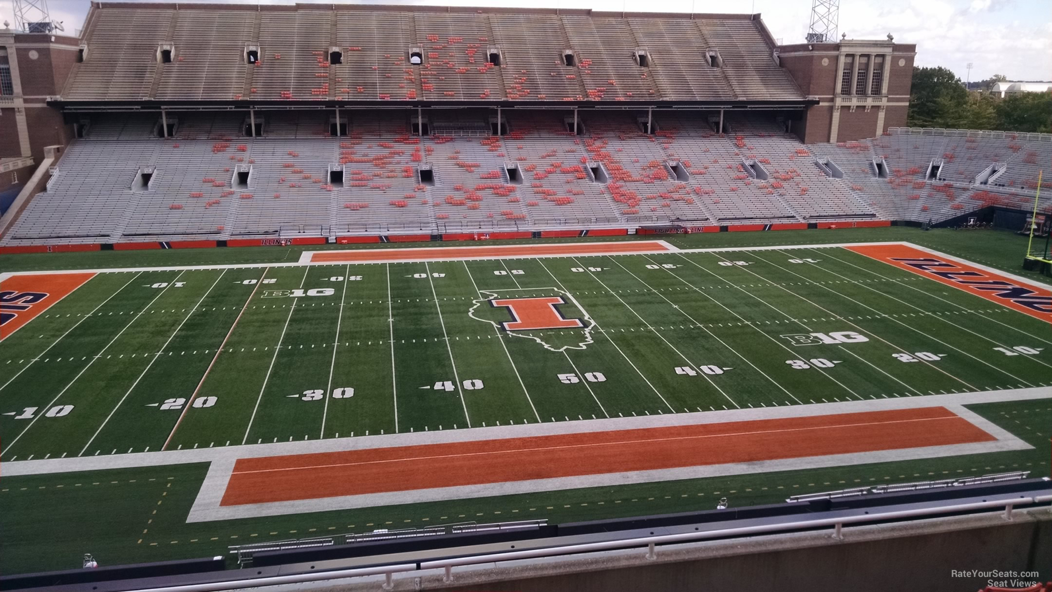 Seat View for Memorial Stadium Section 228, Row 8