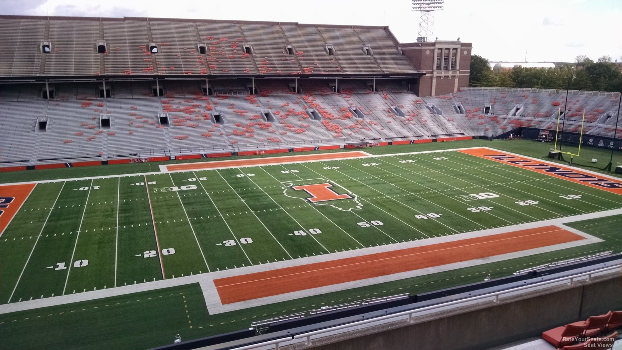 Seat View for Memorial Stadium - IL Section 229, Row 8