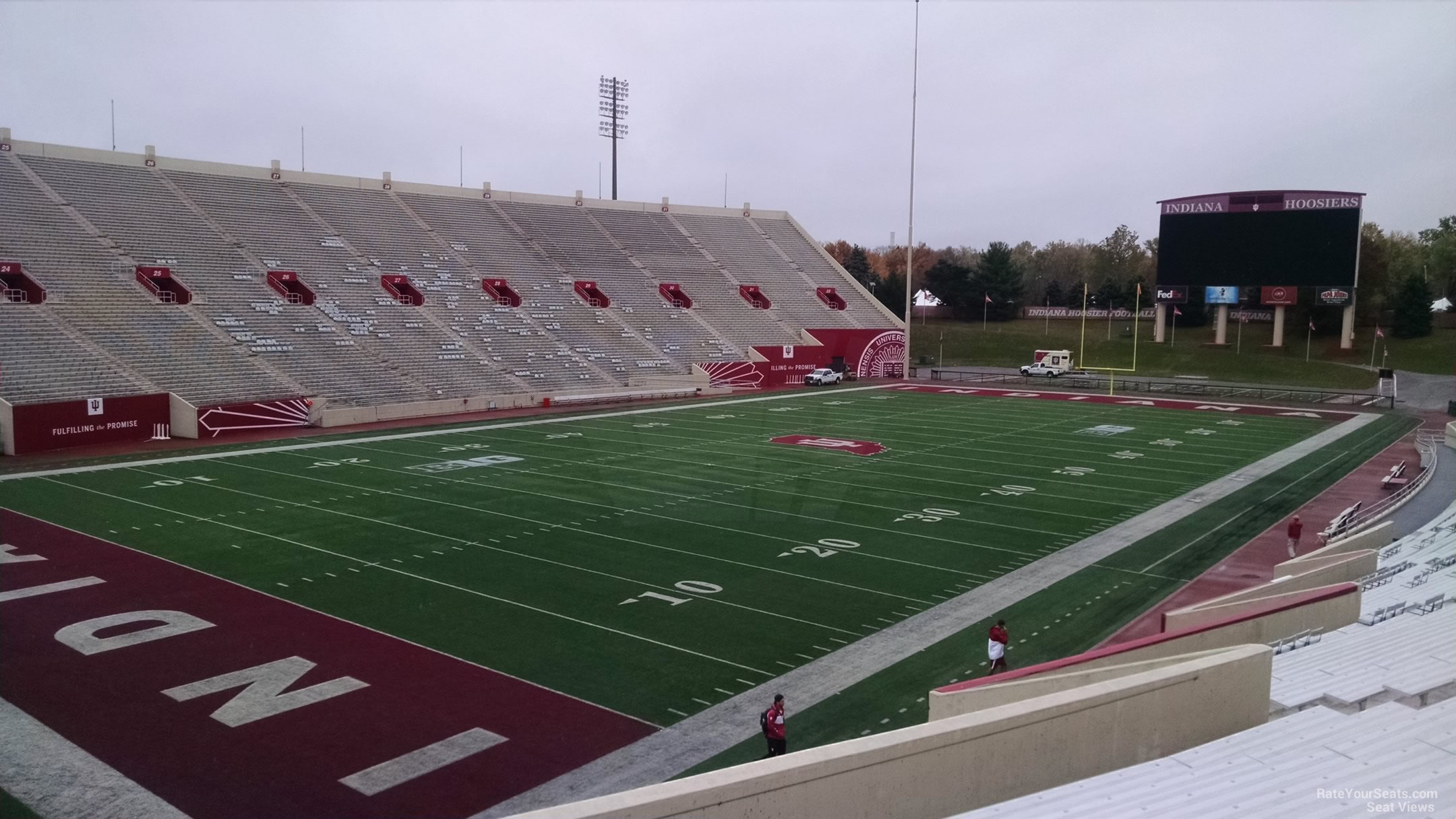 Seat View for Memorial Stadium - IN Section 12, Row 30