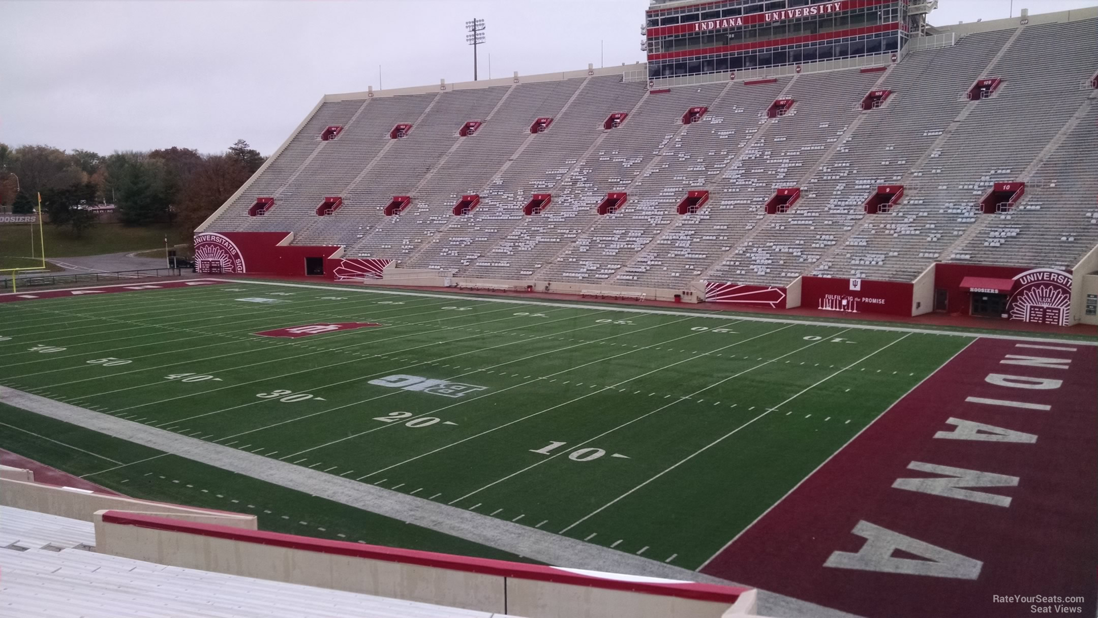Seat View for Memorial Stadium - IN Section 22, Row 30
