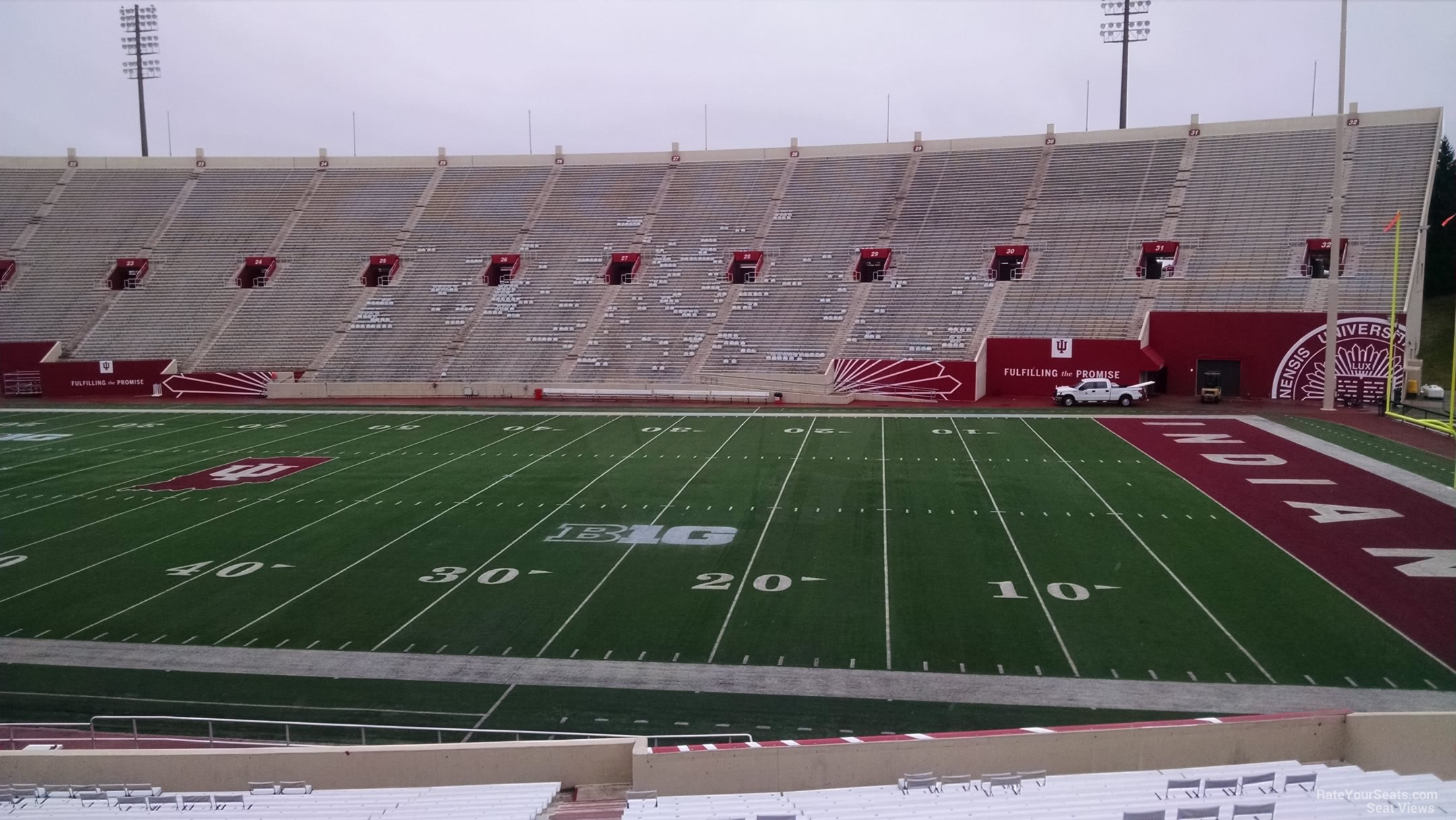 Seat View for Memorial Stadium - IN Section 4, Row 30