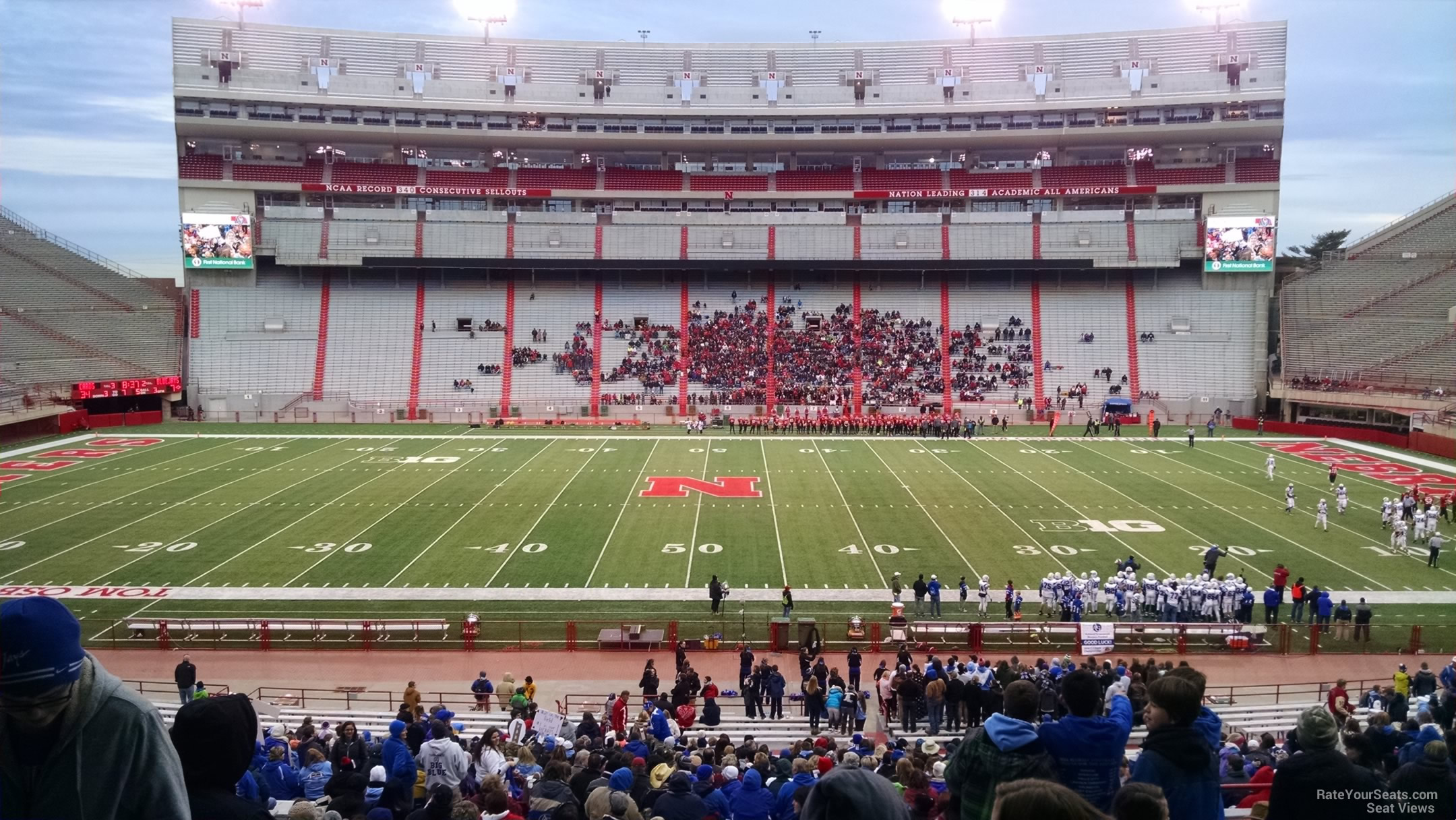 Seat View for Memorial Stadium Section 26, Row 34