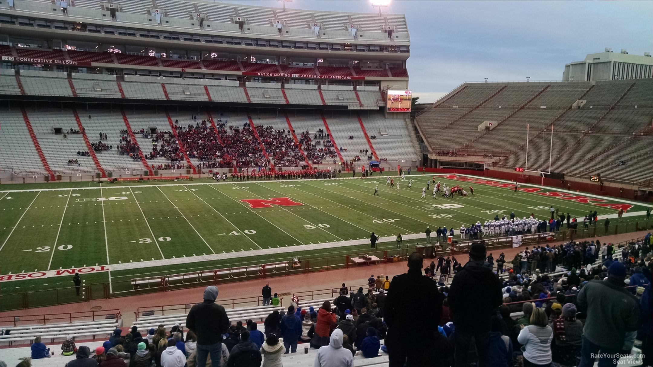 Seat View for Memorial Stadium Section 28, Row 34