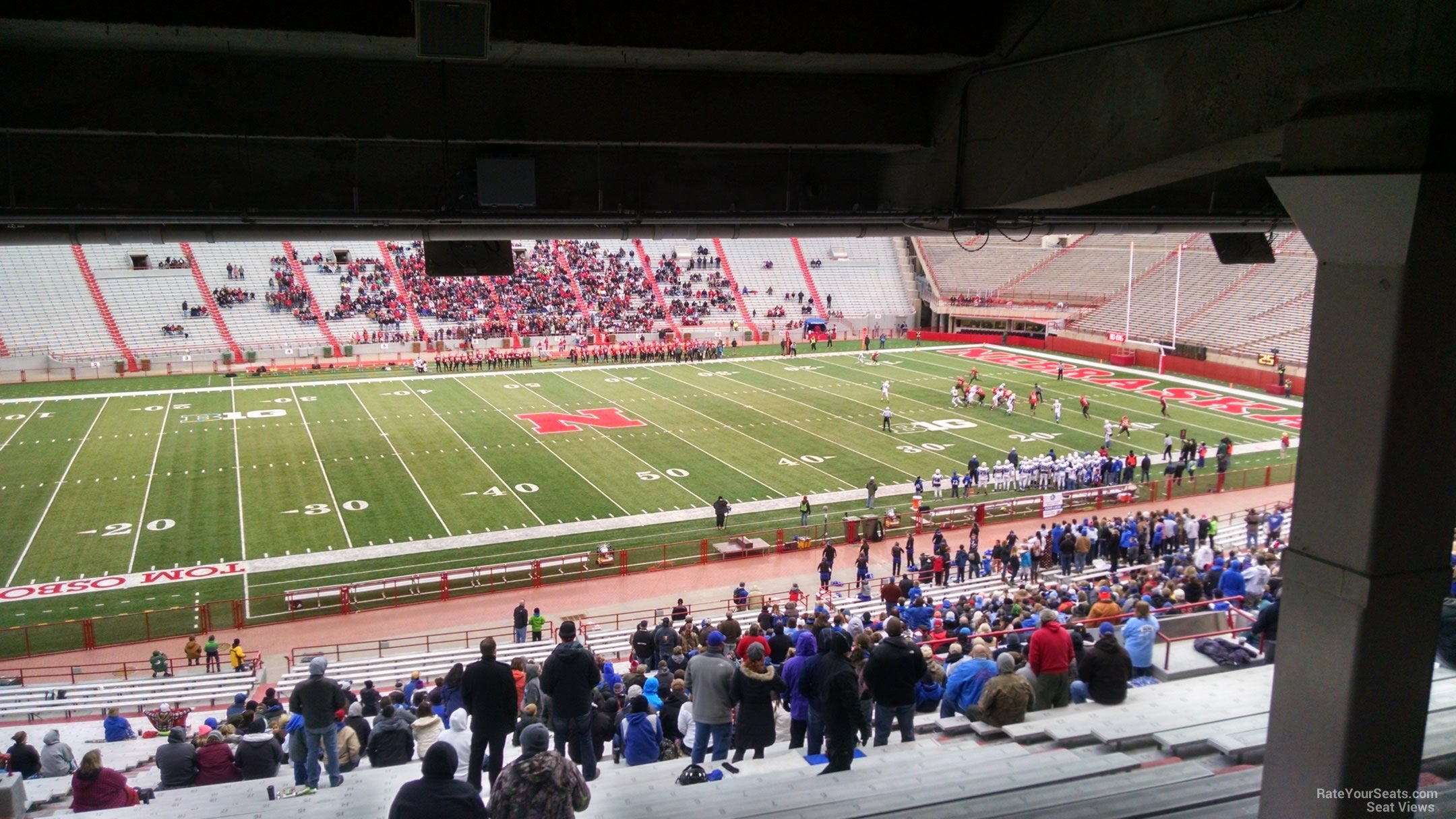 Seat View for Memorial Stadium Section 28, Row 44