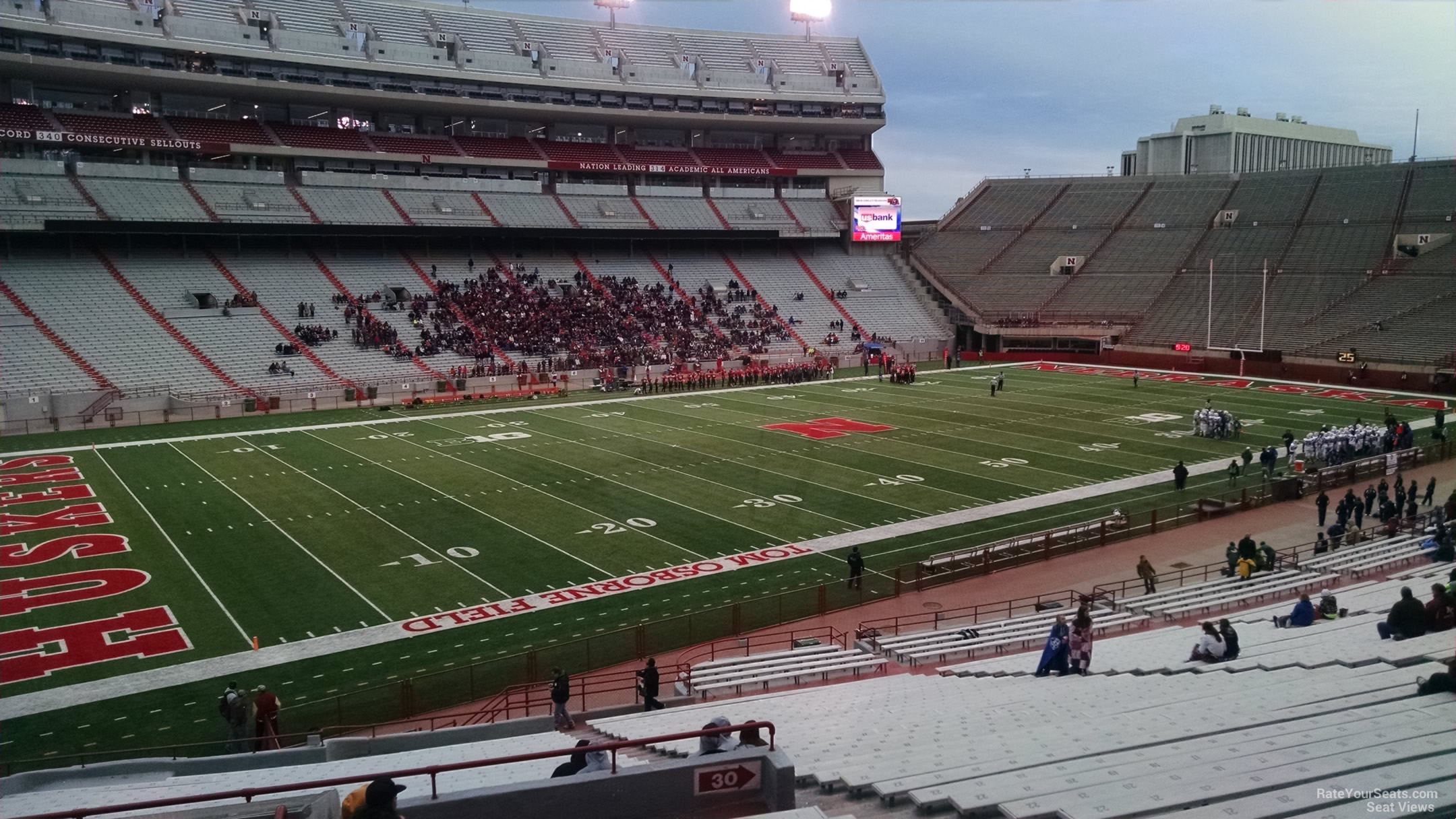 Seat View for Memorial Stadium Section 31