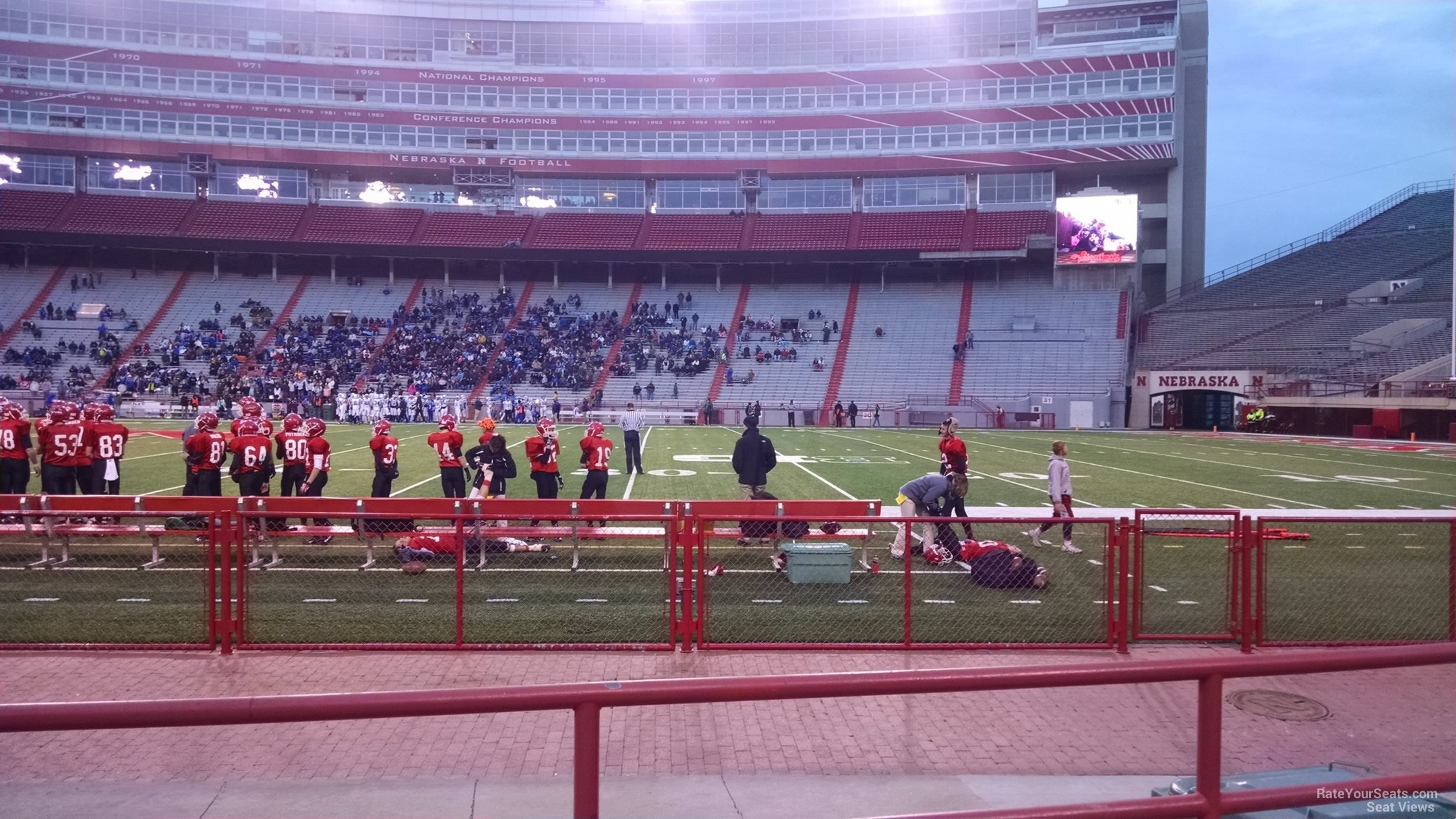Memorial Stadium Nebraska Section 5 Row C on 11 25 2014k